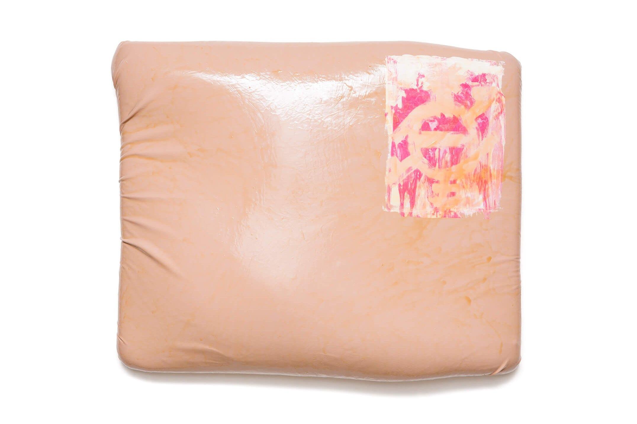 Cibelle Cavalli Bastos,&nbsp;<em>Camiseta de Pele</em>, 2016,&nbsp;clothes, stitching and latex,&nbsp;94 × 120 × 9 cm - Mendes Wood DM