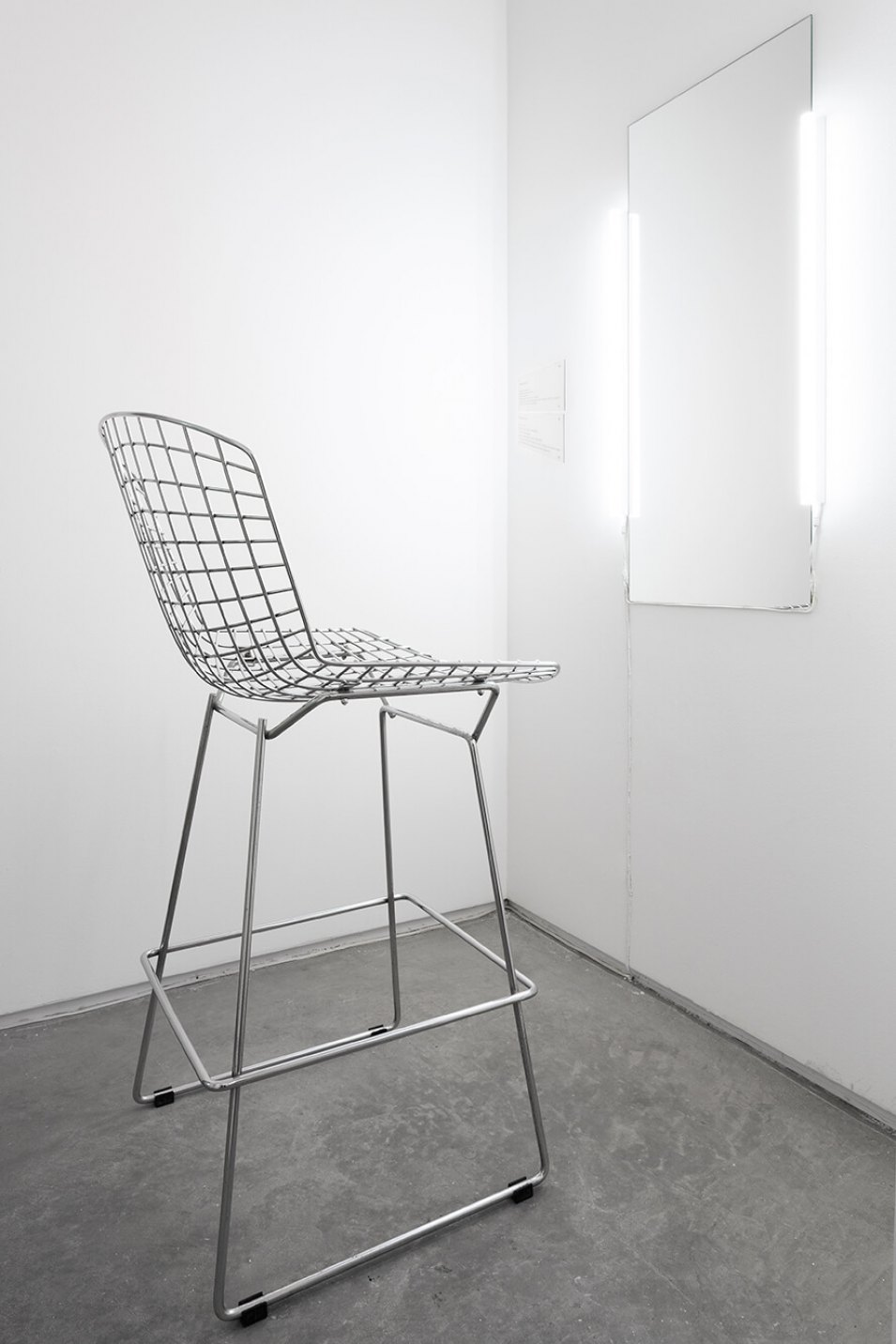 Cibelle Cavalli Bastos,<em>SELF.i.e.</em>, 2016, mirror, lamps and chair, variable dimensions - Mendes Wood DM
