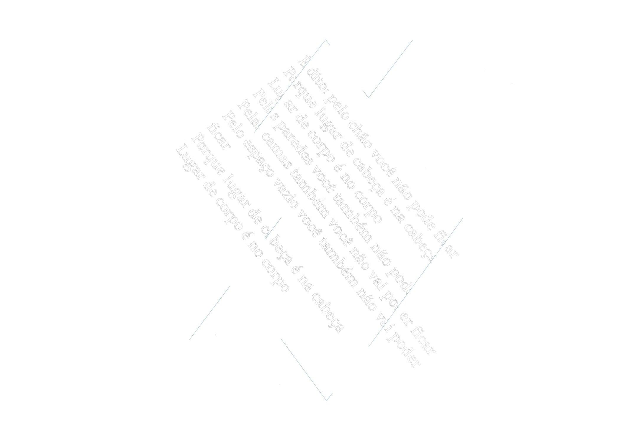 Daniel Steegmann Mangané,<em>É dito: pelo chão você não pode ficar</em>,2015,serigraphy and watercolor on wall,100 × 70 cm - Mendes Wood DM