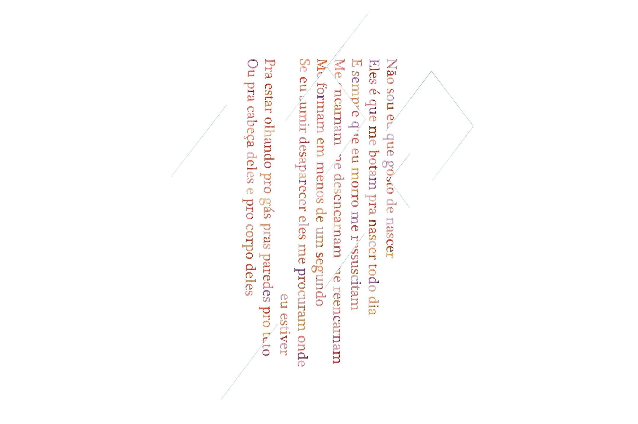 Daniel Steegmann Mangané,<em>Não sou eu que gosto de nascer</em>,2015,serigraphy and watercolor on wall,100 × 70 cm - Mendes Wood DM