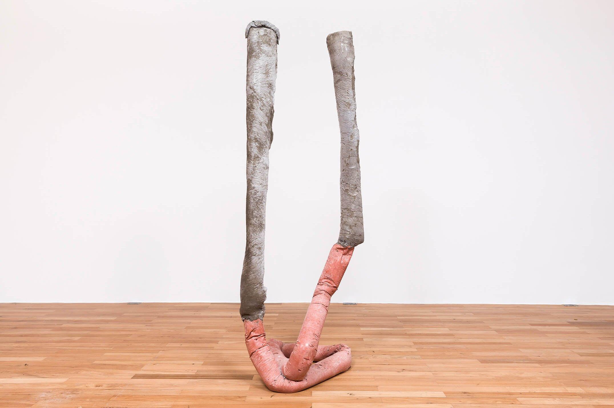 Michael Dean, <em>Fuck (Working Title), sake (Working Title), analogue x, </em>2015, concrete, 177 × 62 × 66 cm - Mendes Wood DM