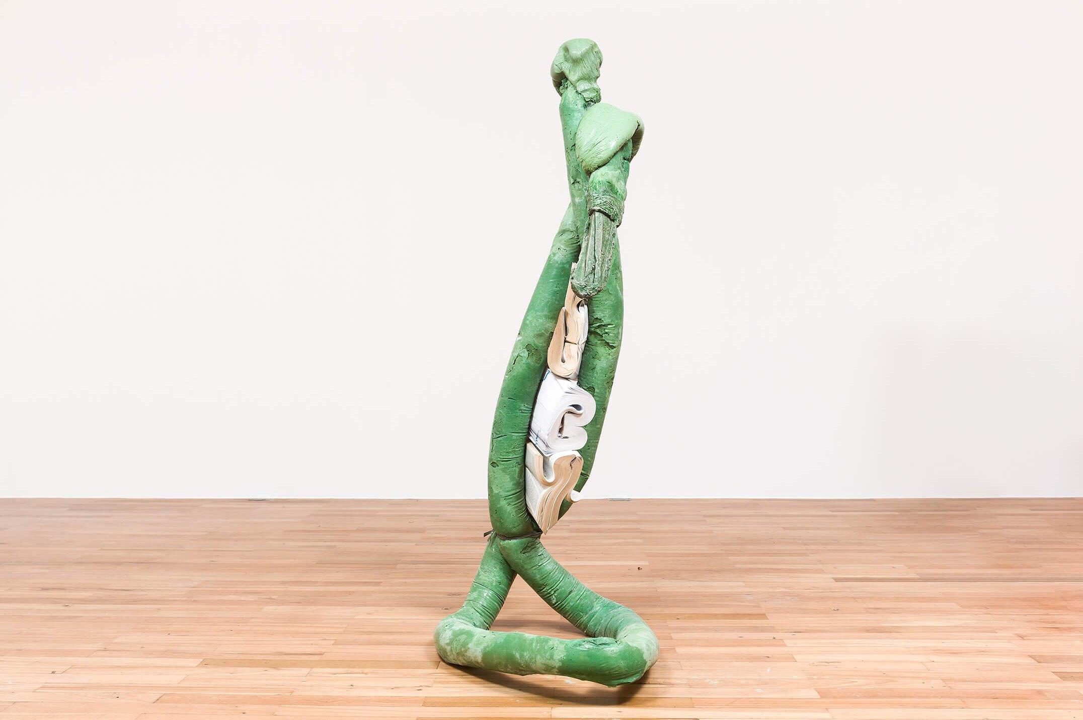 Michael Dean, <em>Analogue x x, now (Working Title)</em>, 2015, concrete, dictionaries, string and paint, 1,64 × 57 × 79 cm - Mendes Wood DM
