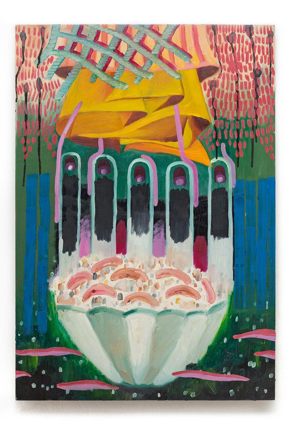 Elvis Almeida, <em>untitled</em>, 2014, acrylic on wood, 65 × 45 cm - Mendes Wood DM