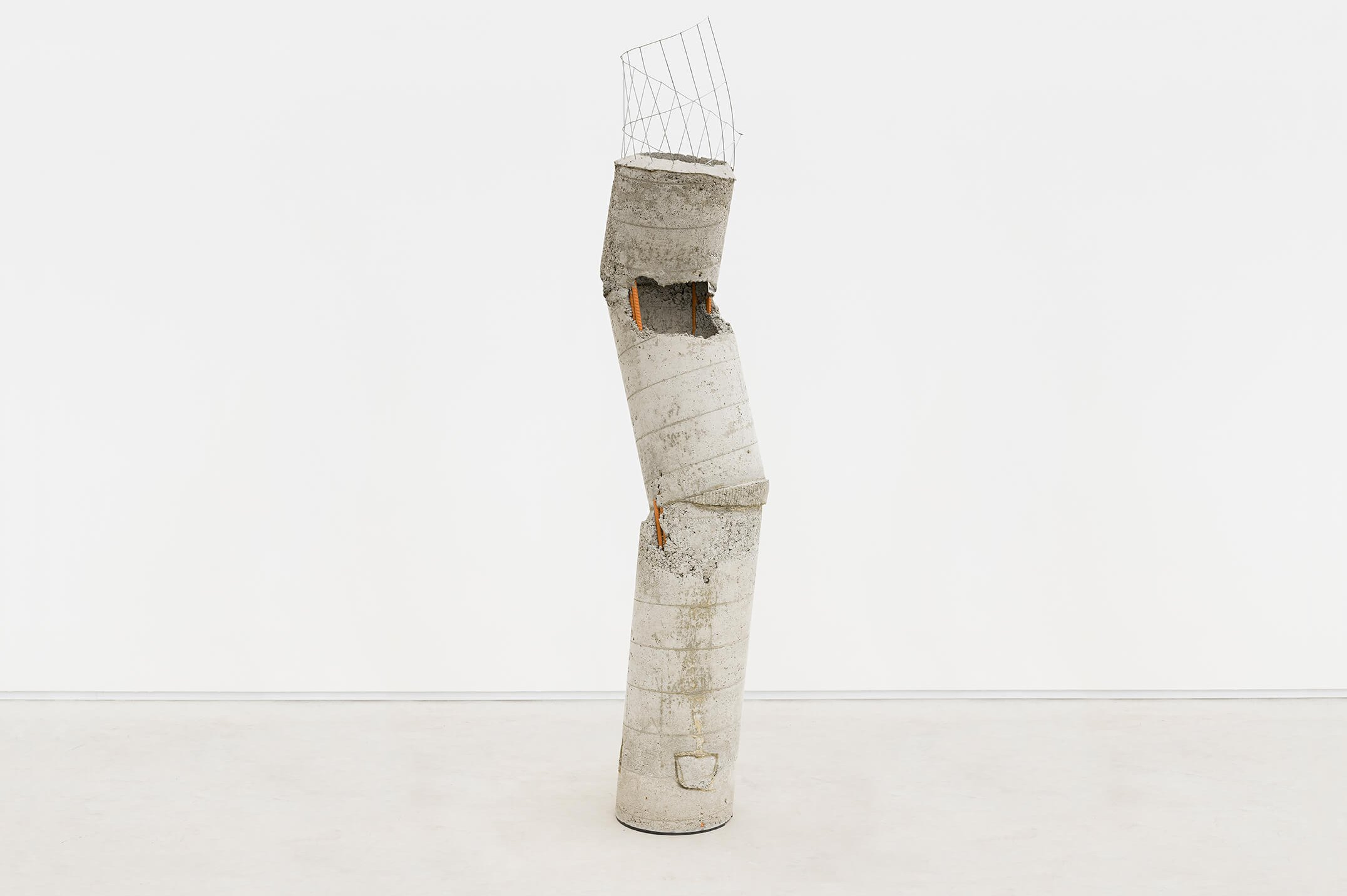 Allyson Vieira,<em>Worker 3</em>, 2015,concrete, steel and caution tape,193 × 38 ×33 cm - Mendes Wood DM