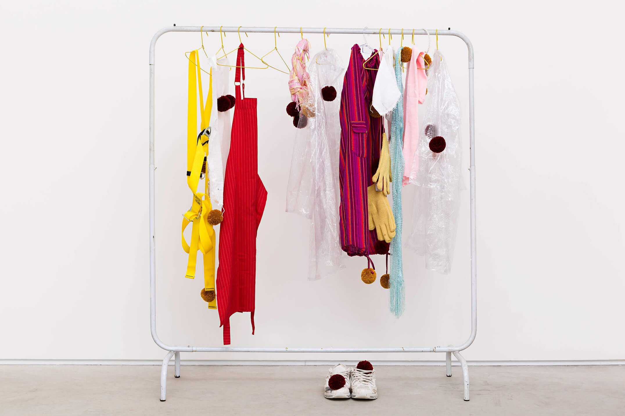 Matthew Lutz-Kinoy,<em>Princess Pompom</em>, 2015,clothing rack,167 × 148 × 70 cm - Mendes Wood DM