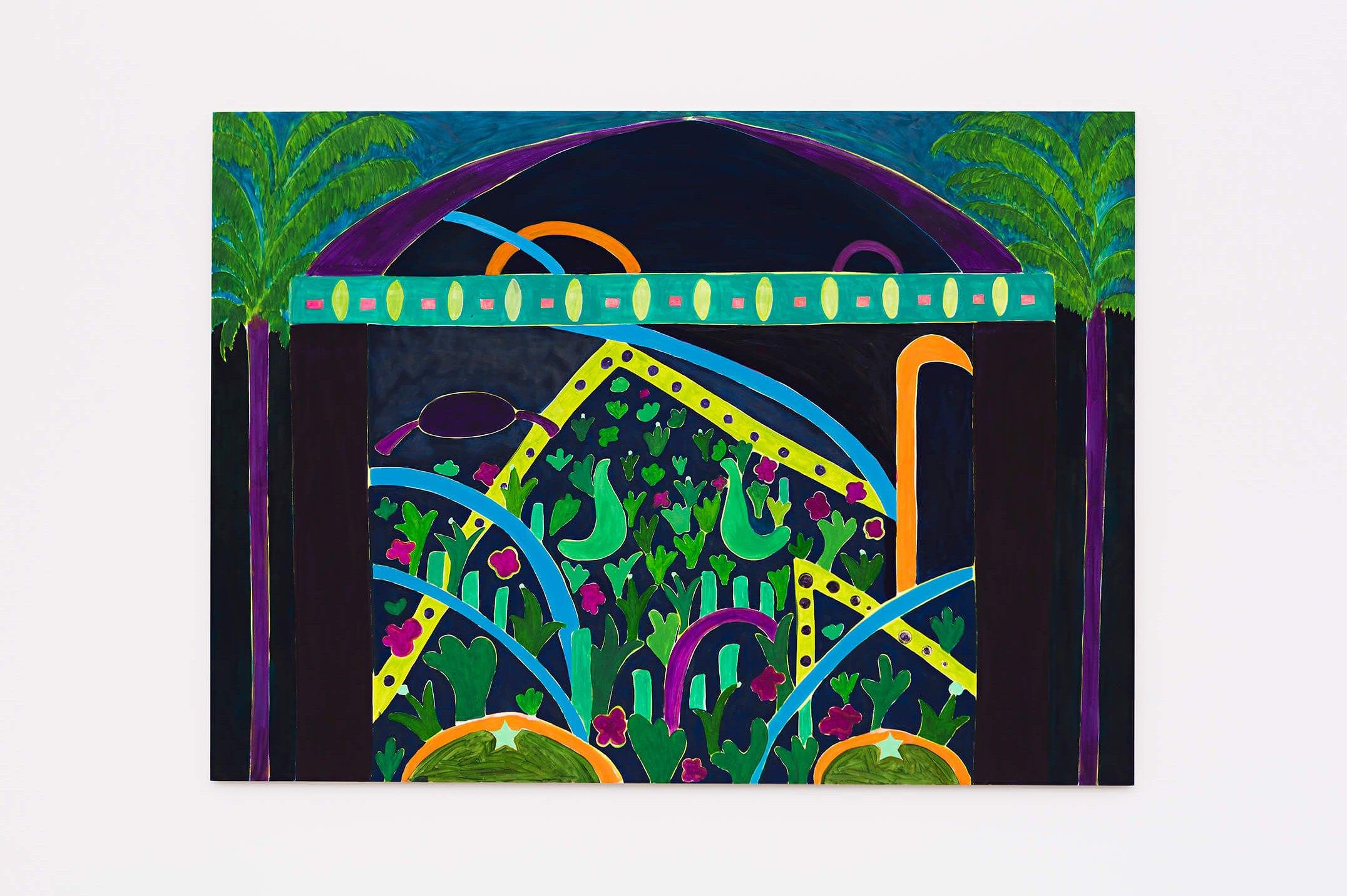 Patricia Leite,<em>Alegoria III,</em>2015, oil on wood,160 ×220 cm - Mendes Wood DM