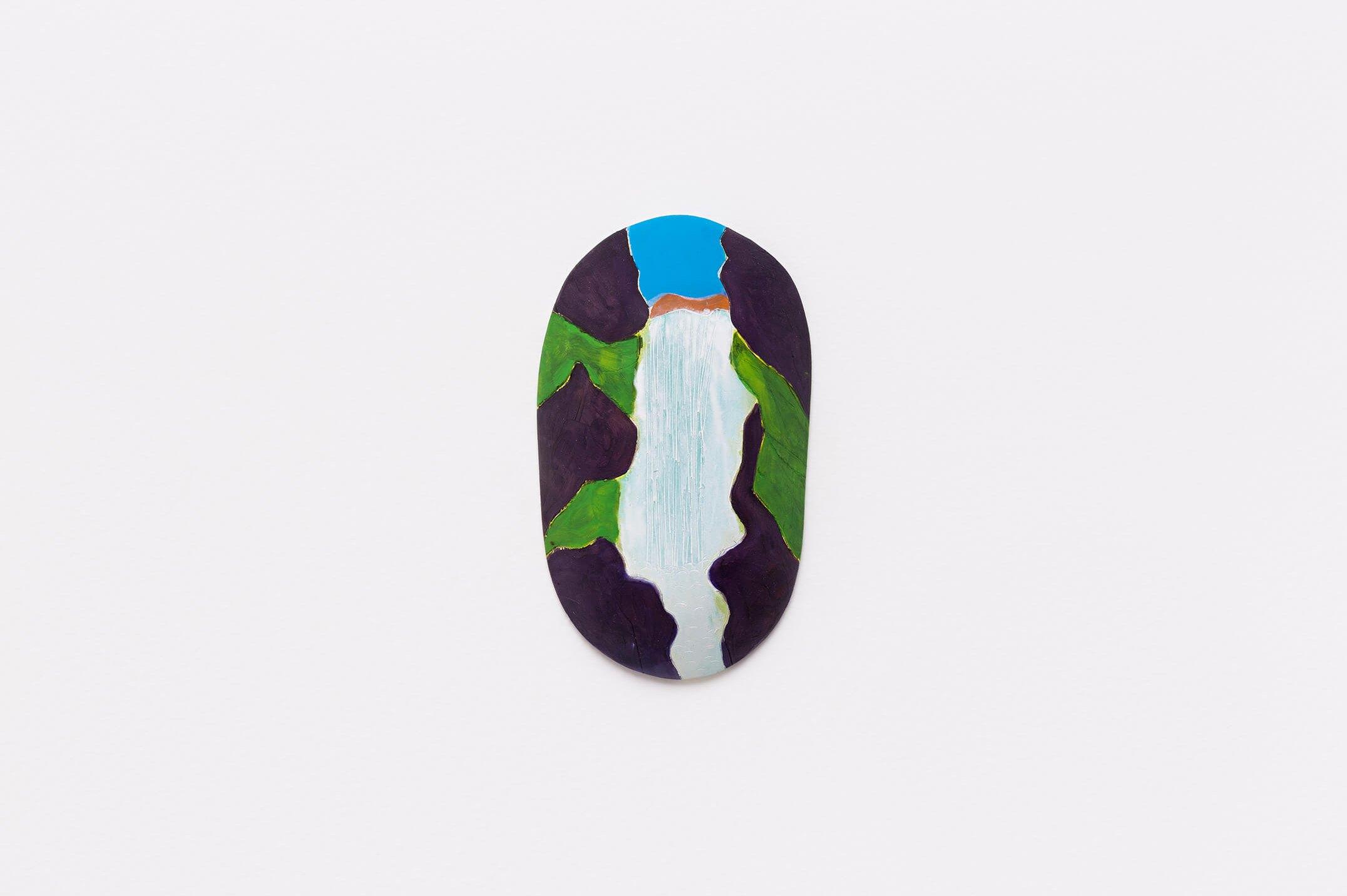 Patricia Leite,<em>Water to drink</em>,2015, oil on wood,18 ×10 cm - Mendes Wood DM