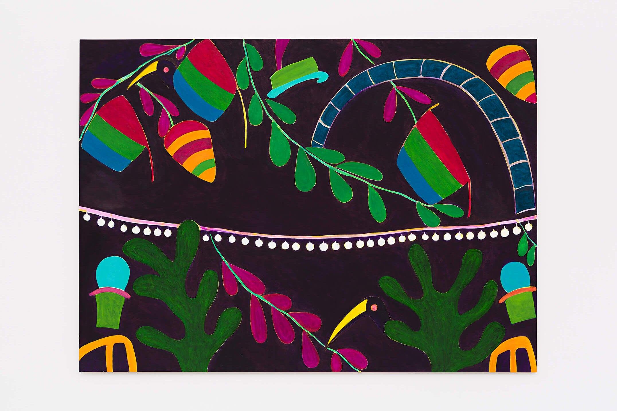 Patricia Leite,<em>Alegoria II</em>,2015, oil on wood,160 ×220 cm - Mendes Wood DM