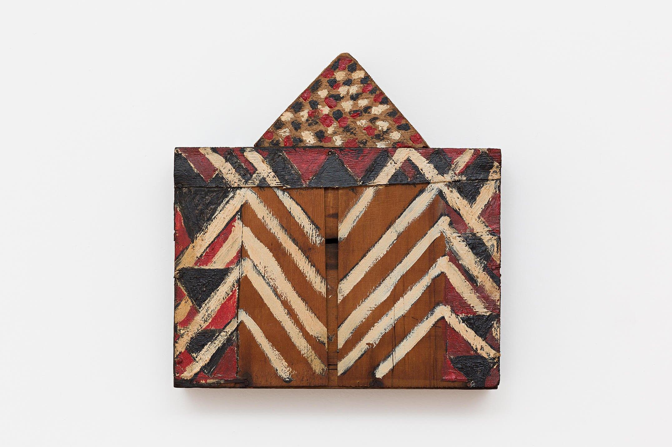 Celso Renato,&nbsp;<em>untitled</em>, 1992,&nbsp;acrylic on wood,&nbsp;22,5 × 22&nbsp;×&nbsp;5 cm - Mendes Wood DM