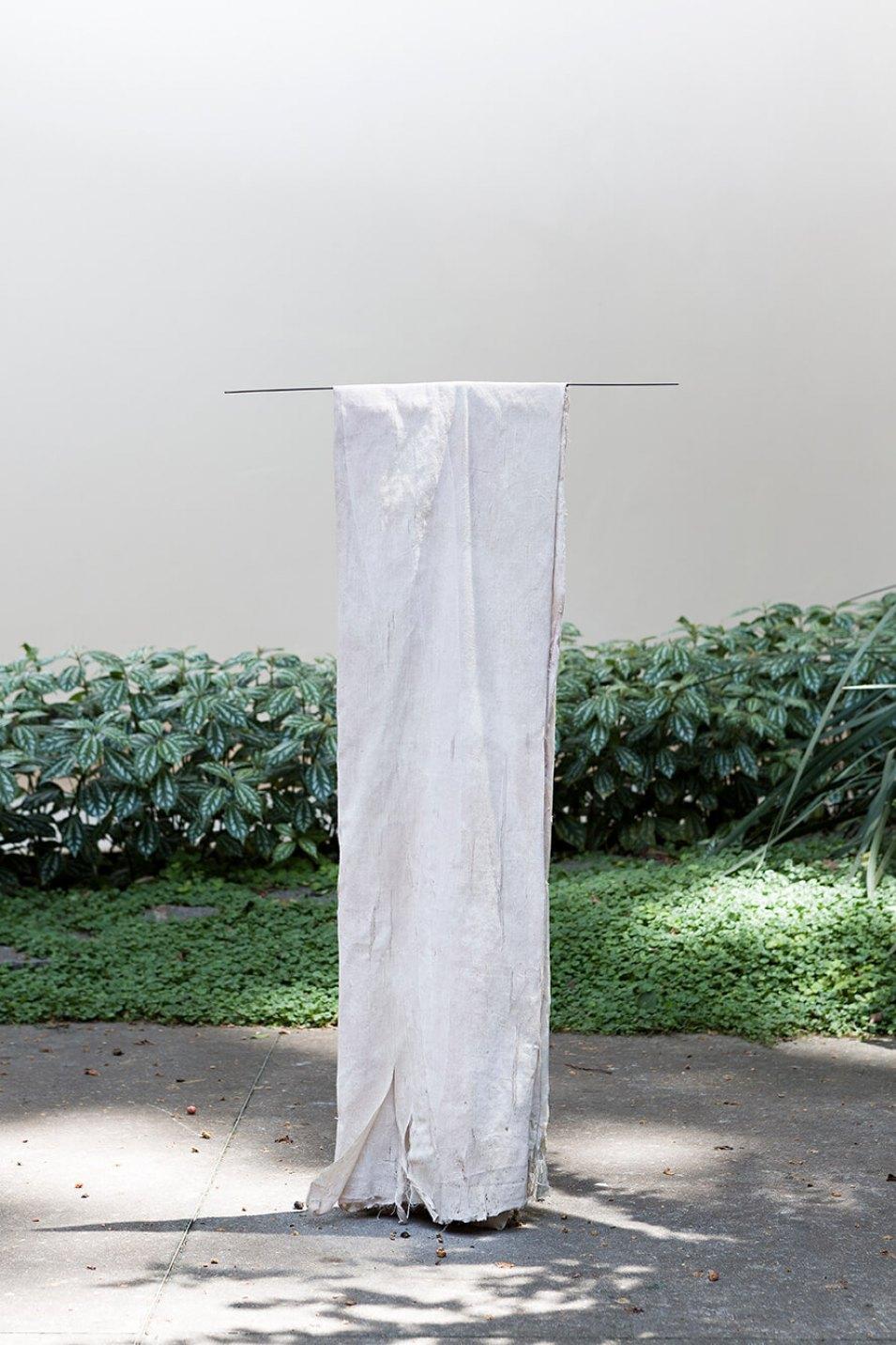 Adriano Amaral,<em>sem título</em>, 2014, nanquim, gesso e pigmento, 76 × 42 cm - Mendes Wood DM