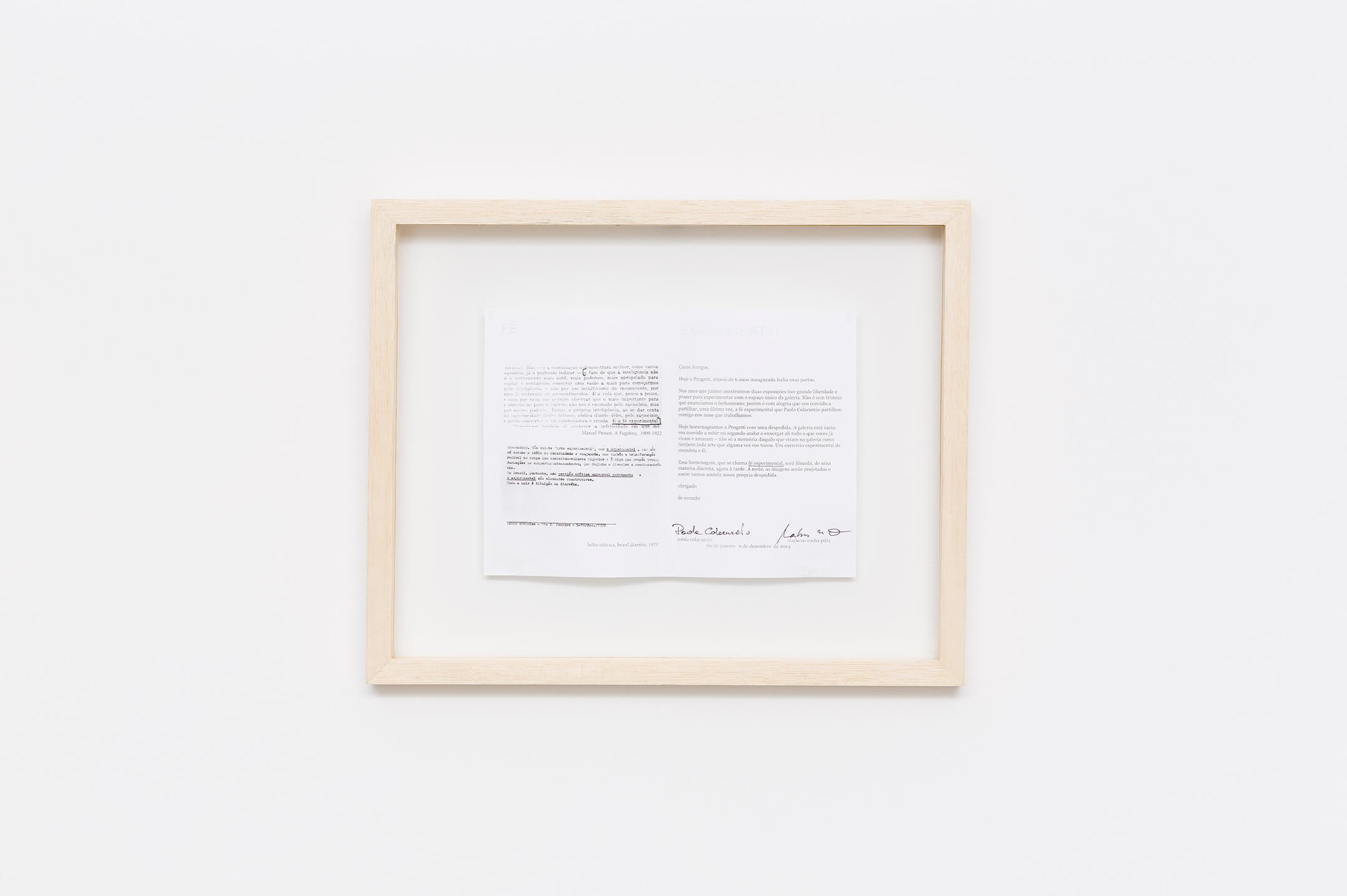Matheus Rocha Pitta,<em>Fé experimental</em>, 2015, video HD and paper with signed print xerox, 32' video, 30×40 cm - Mendes Wood DM