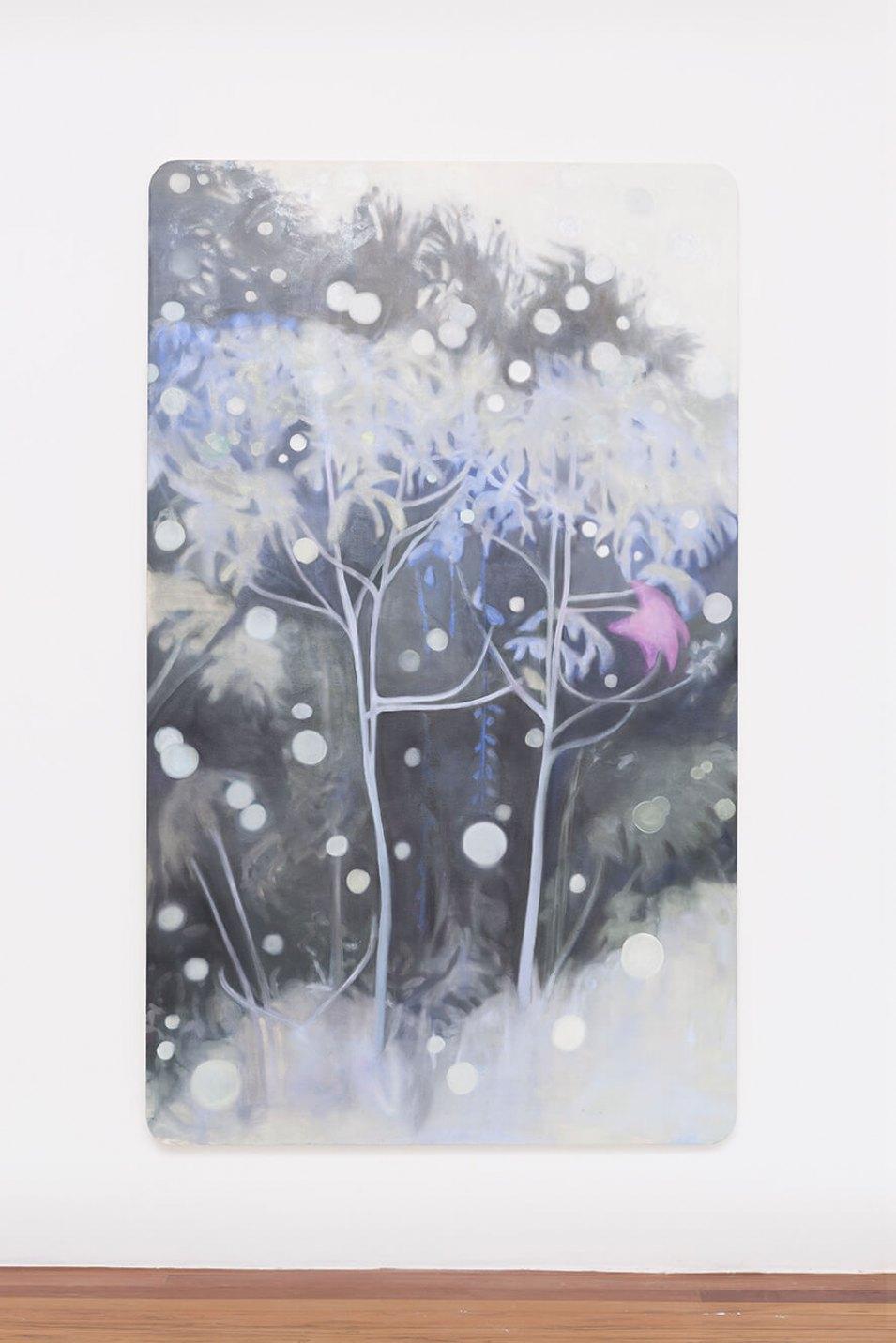 Marina Perez Simão,<em>untitled,</em> 2015,oil and iridescent pigment on canvas, 222 × 135 × 3cm - Mendes Wood DM