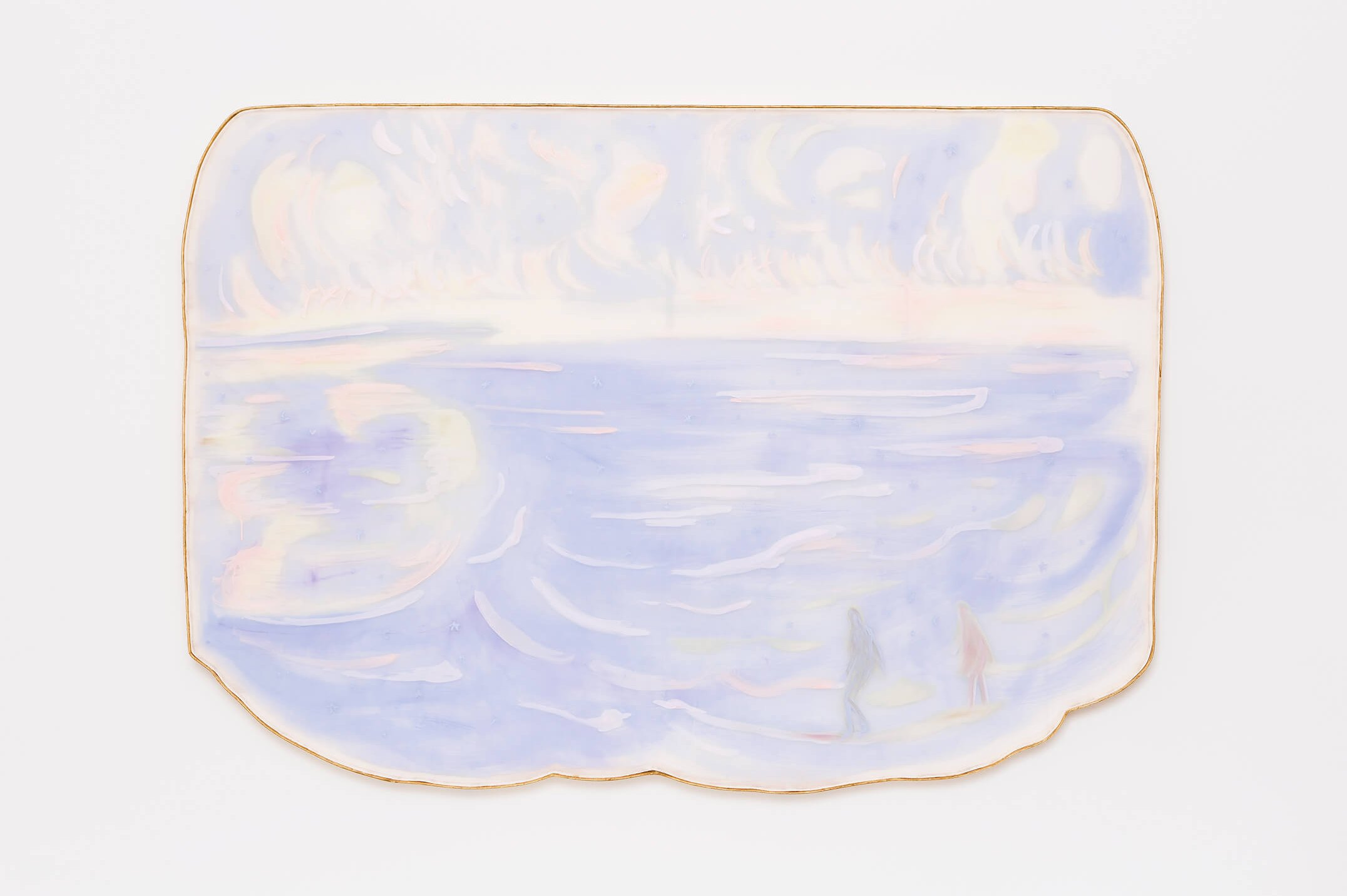 Marina Perez Simão,<em>untitled</em>,2015,acrylic and iridescent pigment on polyester paper assembled on wood, 152,5 × 217 × 5cm - Mendes Wood DM