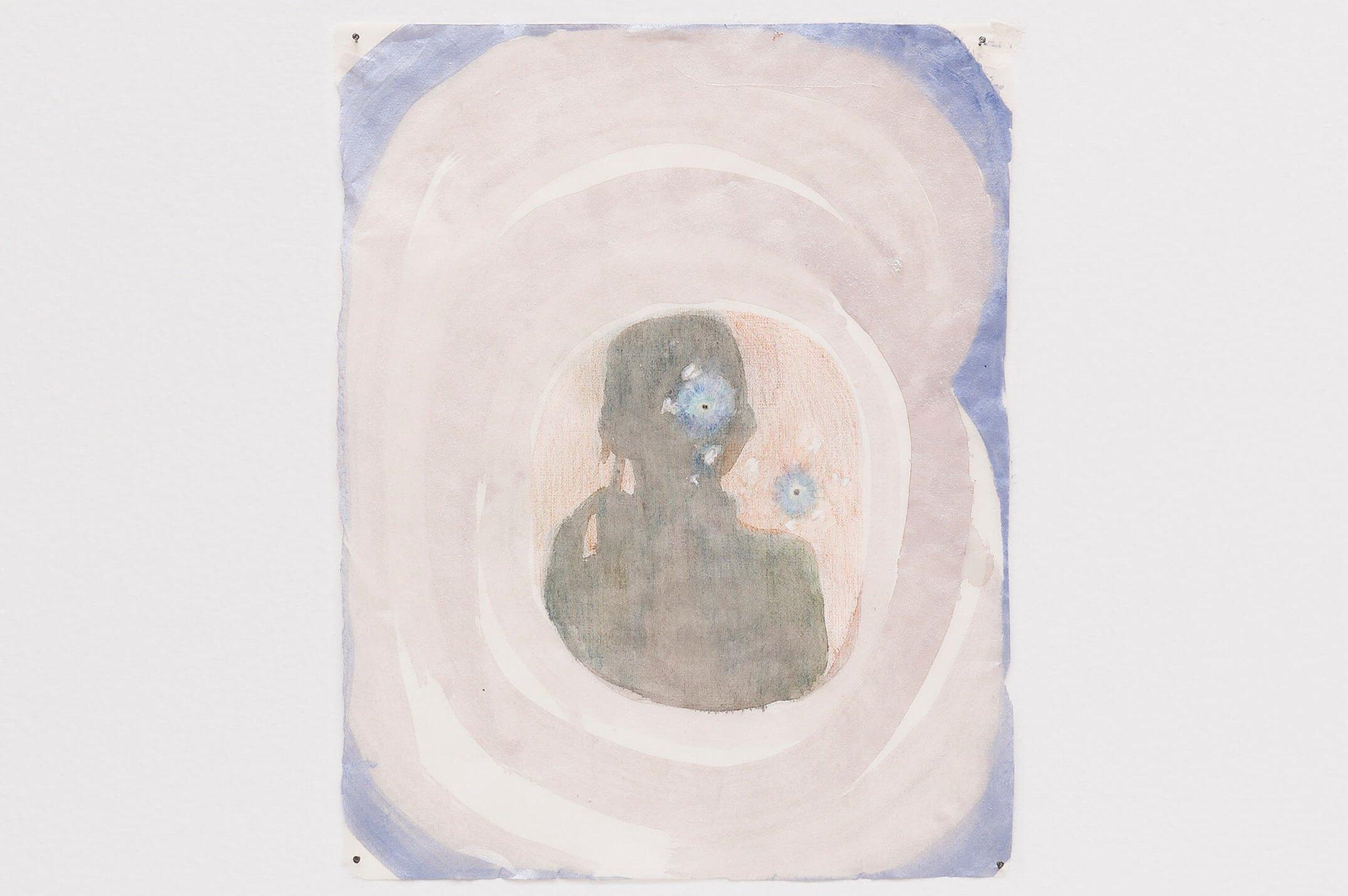 Marina Perez Simão,&nbsp;<em>untitled</em>,&nbsp;2015,&nbsp;color pencil, watercolor, acrylic and iridescent pigment on paper, 33,4 × 26,4&nbsp;cm - Mendes Wood DM