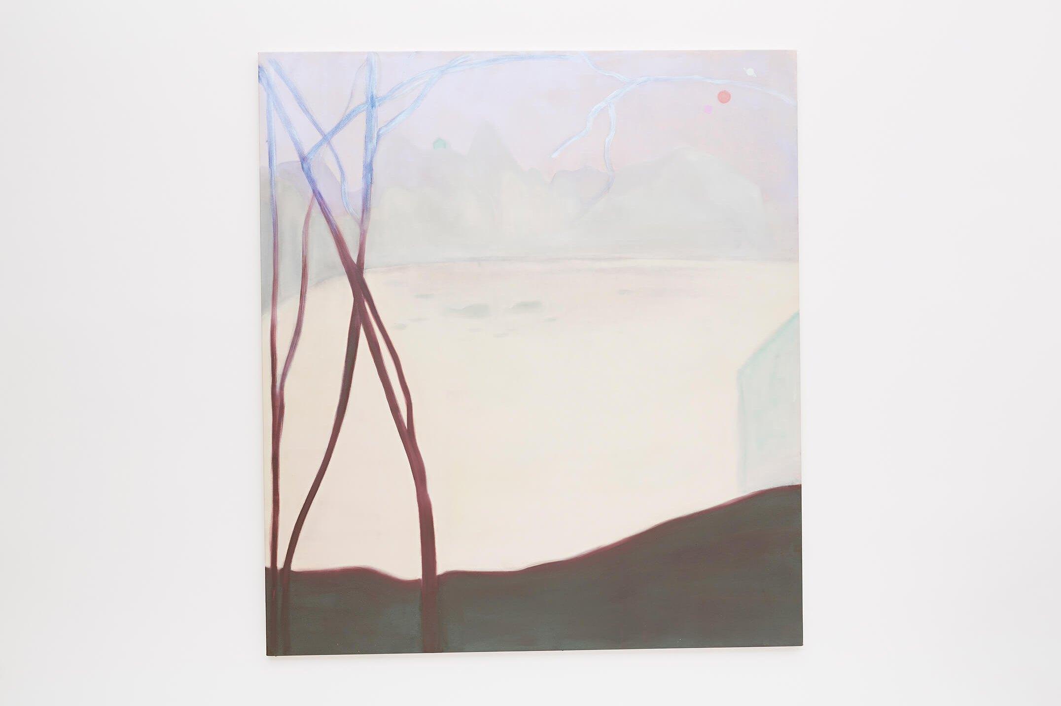 Marina Perez Simão,<em>untitled</em>,2015,oil and iridescent pigment on canvas, 190 × 170×3,5 cm - Mendes Wood DM