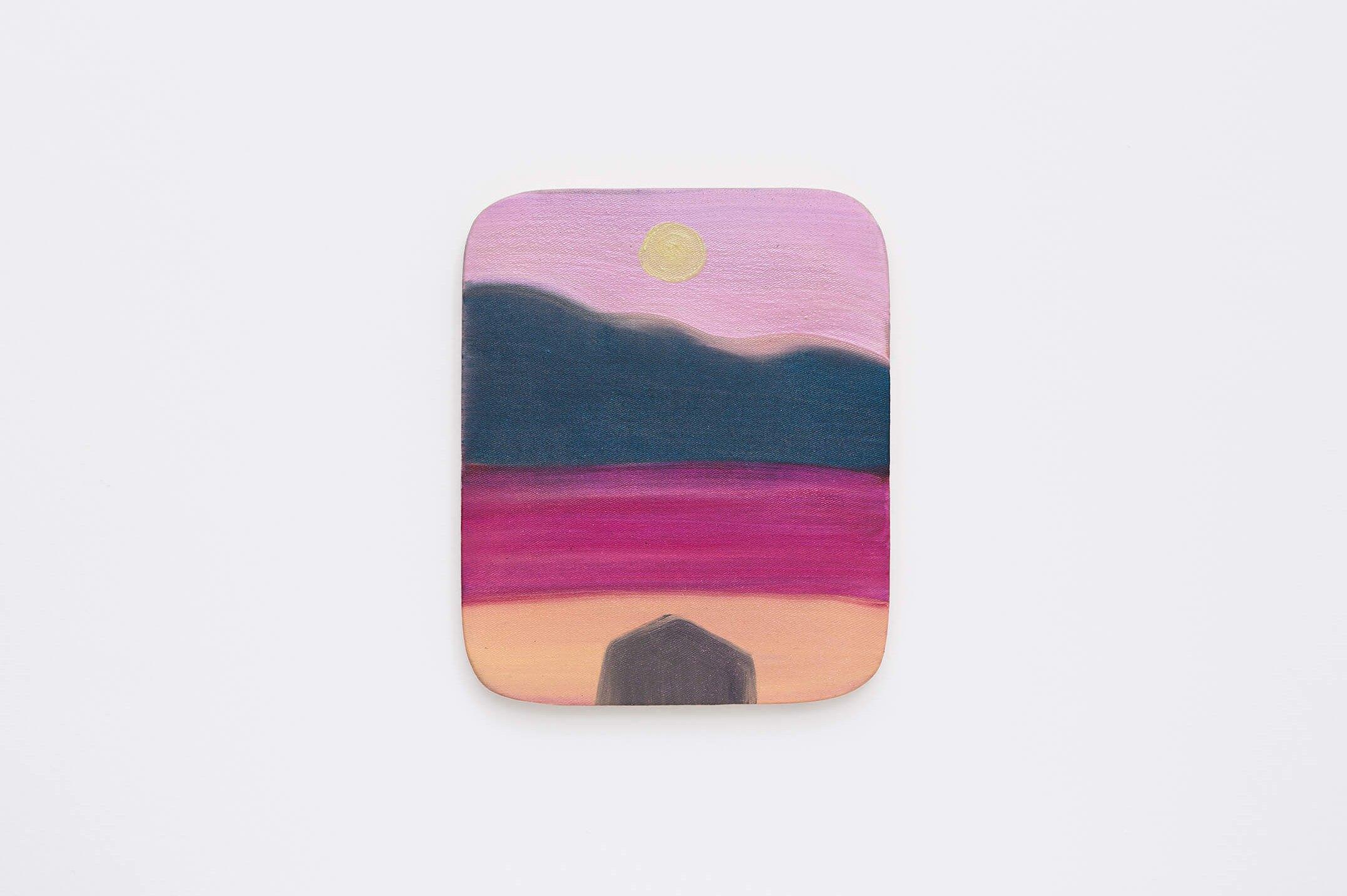 Marina Perez Simão,<em>untitled</em>,2015,oil and iridescent pigment on canvas, 29 × 24,5 ×2 cm - Mendes Wood DM