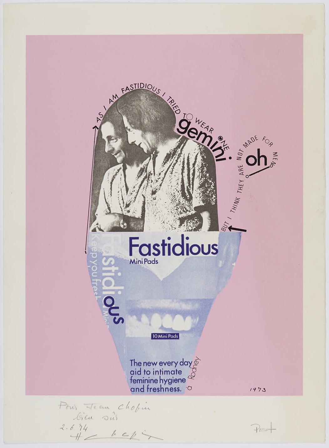 Henri Chopin,<em>Fastidious</em>,1974,color print on paper,38 × 27,9 cm - Mendes Wood DM