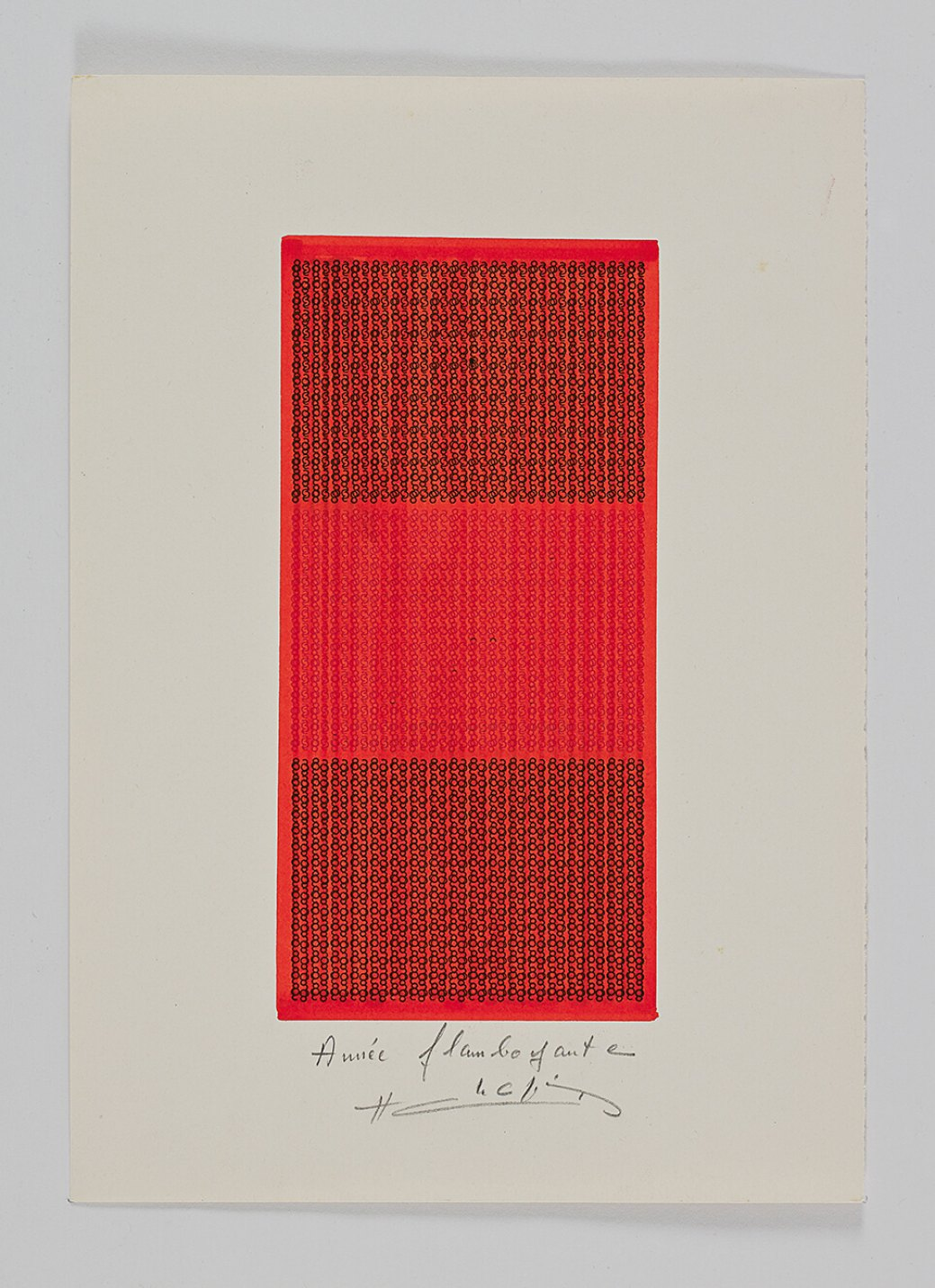 Henri Chopin,<em>Année flamboyante</em>, 1983,ink on paper (typewritten poems), 29.7 × 21 cm - Mendes Wood DM