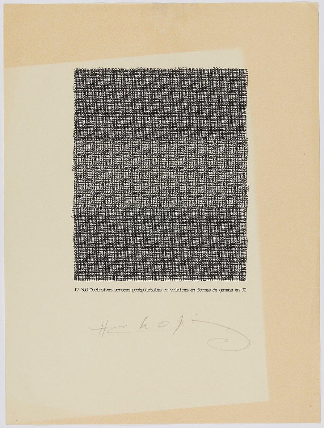 Henri Chopin,<em>17'300</em>, 1992, ink on paper (typewritten poems), 29,7 × 21 cm - Mendes Wood DM