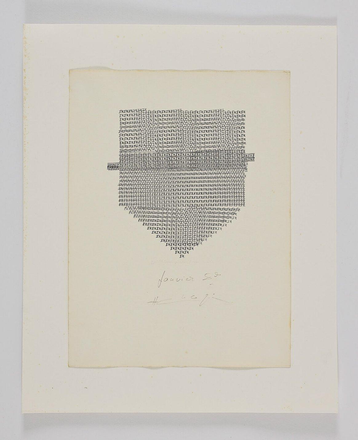 Henri Chopin,<em>Kaléidoscopique Franz Kafka</em>, 1992, ink on paper (typewritten poems), 29,7 × 21 cm - Mendes Wood DM