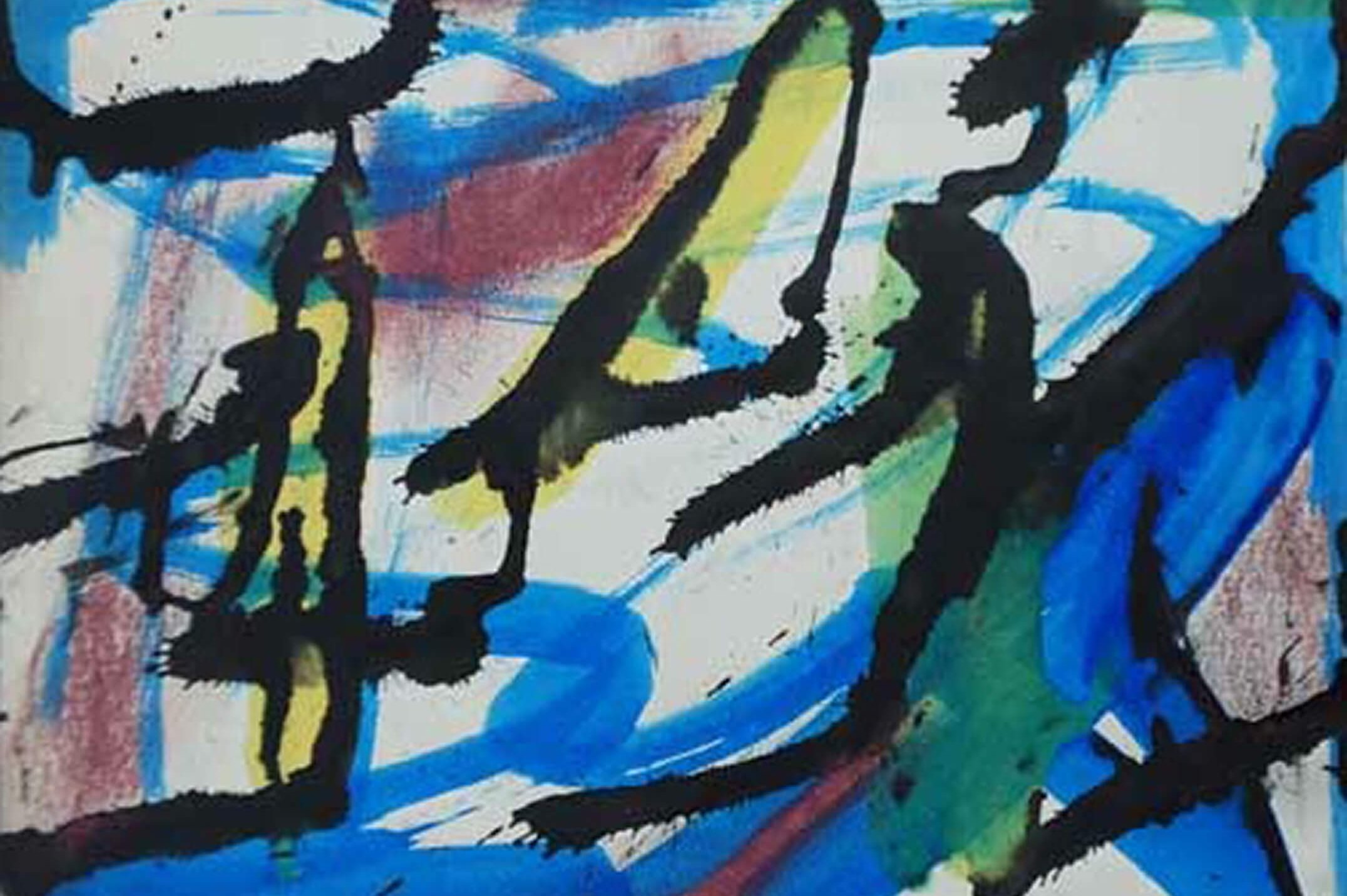 Julian Beck,<em>untitled</em>, 1944,mixed technique on paper, 23 × 30 cm - Mendes Wood DM