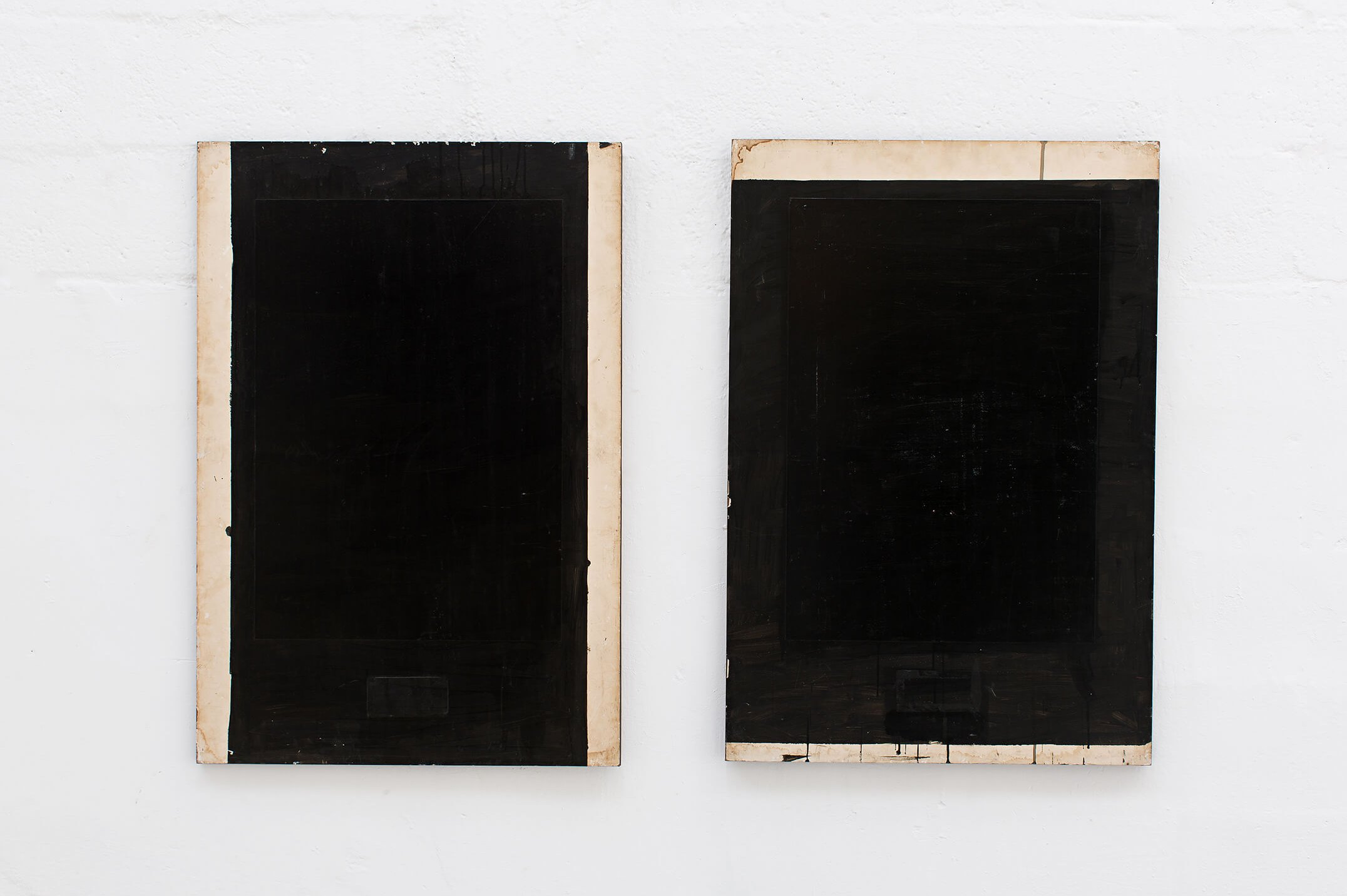 Deyson Gilbert,<em> Diptic</em>, 2008, acrylic on wood, 98 × 67 cm (each) - Mendes Wood DM