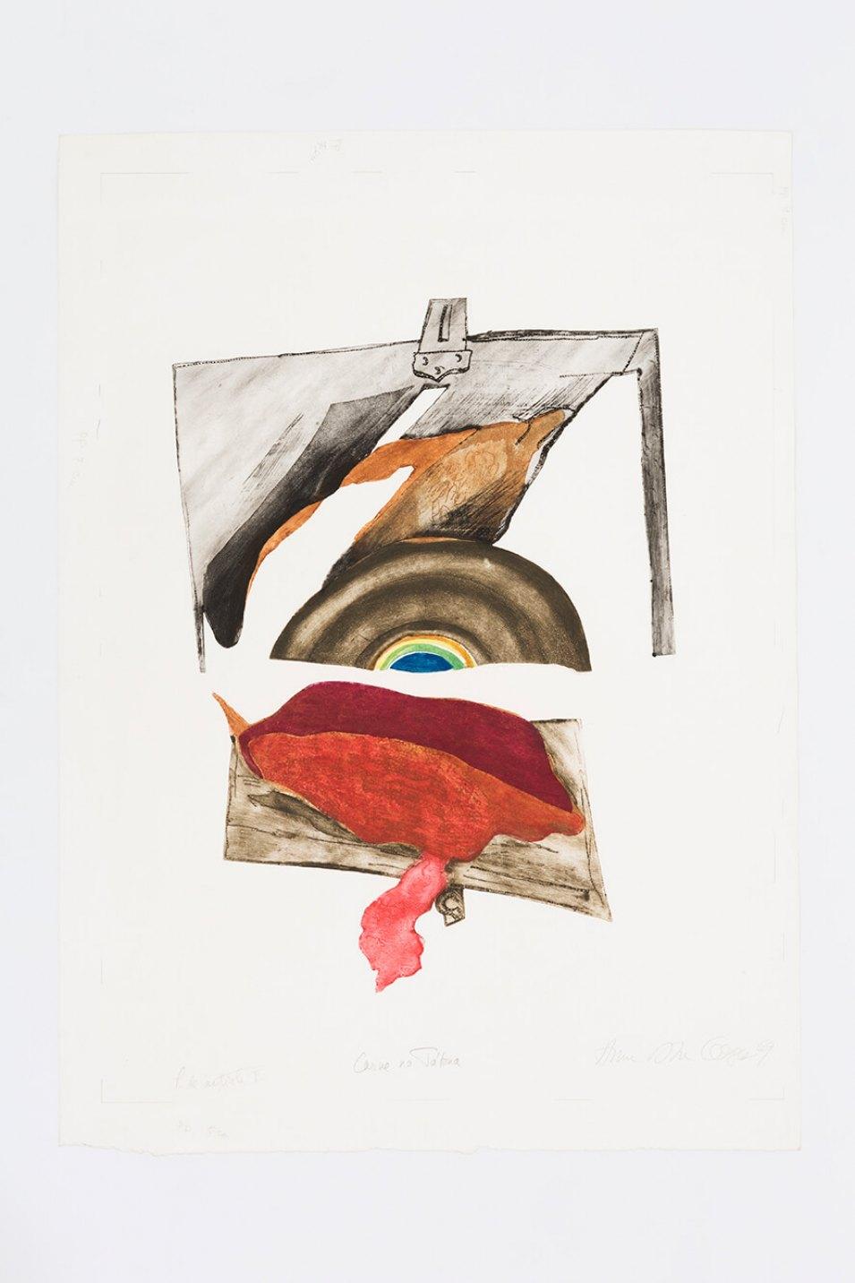 Anna Bella Geiger,<em>Carne na tábua</em>, 1969,aquatint and relief,86,5 × 59 cm - Mendes Wood DM