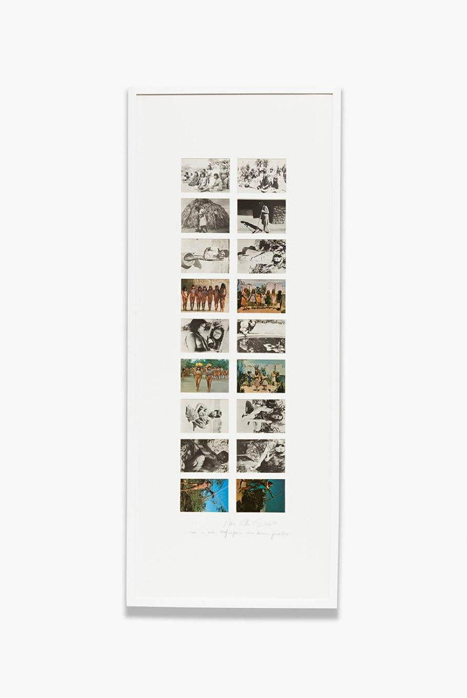 Anna Bella Geiger,&nbsp;<em>Brasil nativo – Brasil alienígena</em>, 1977,&nbsp;18 postal cards series, 144 × 58 cm - Mendes Wood DM