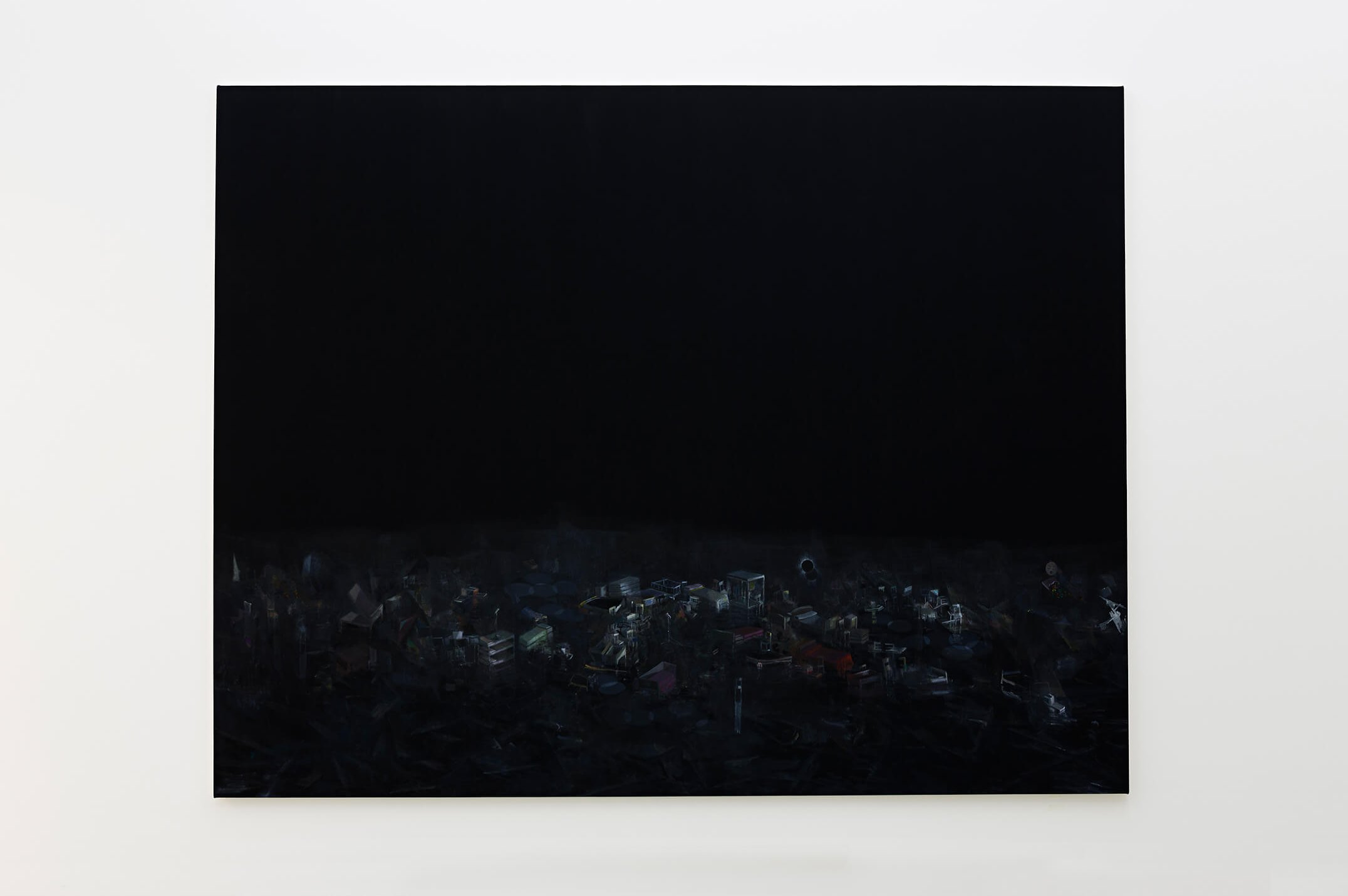 Guillermo Kuitca, <em>Doble-eclipse</em>, 2013, oil on wood, 283 × 362 cm - Mendes Wood DM