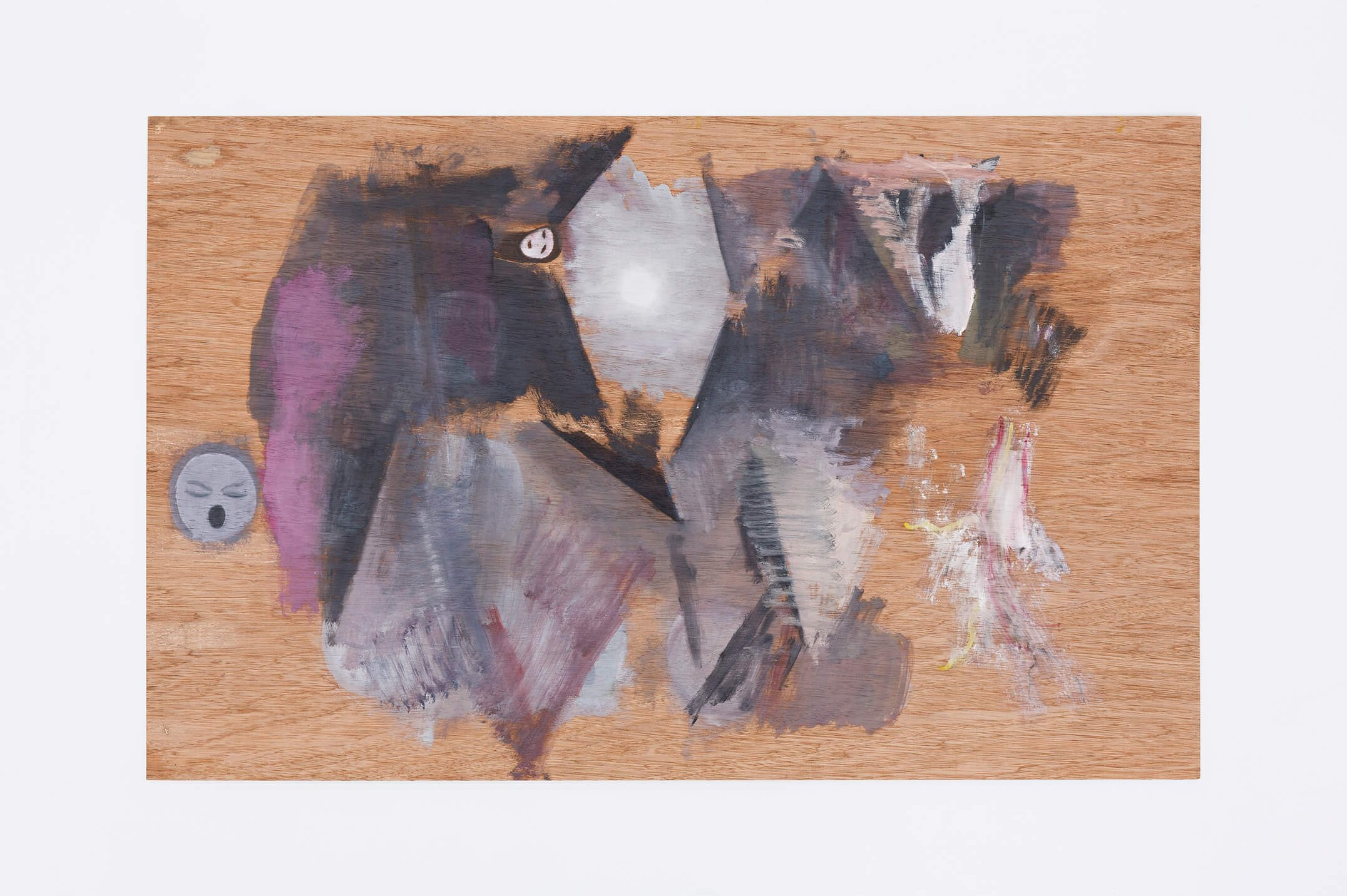 Guillermo Kuitca, <em>untitled</em>, 2013, oil on wood, 53,5 × 85 cm - Mendes Wood DM