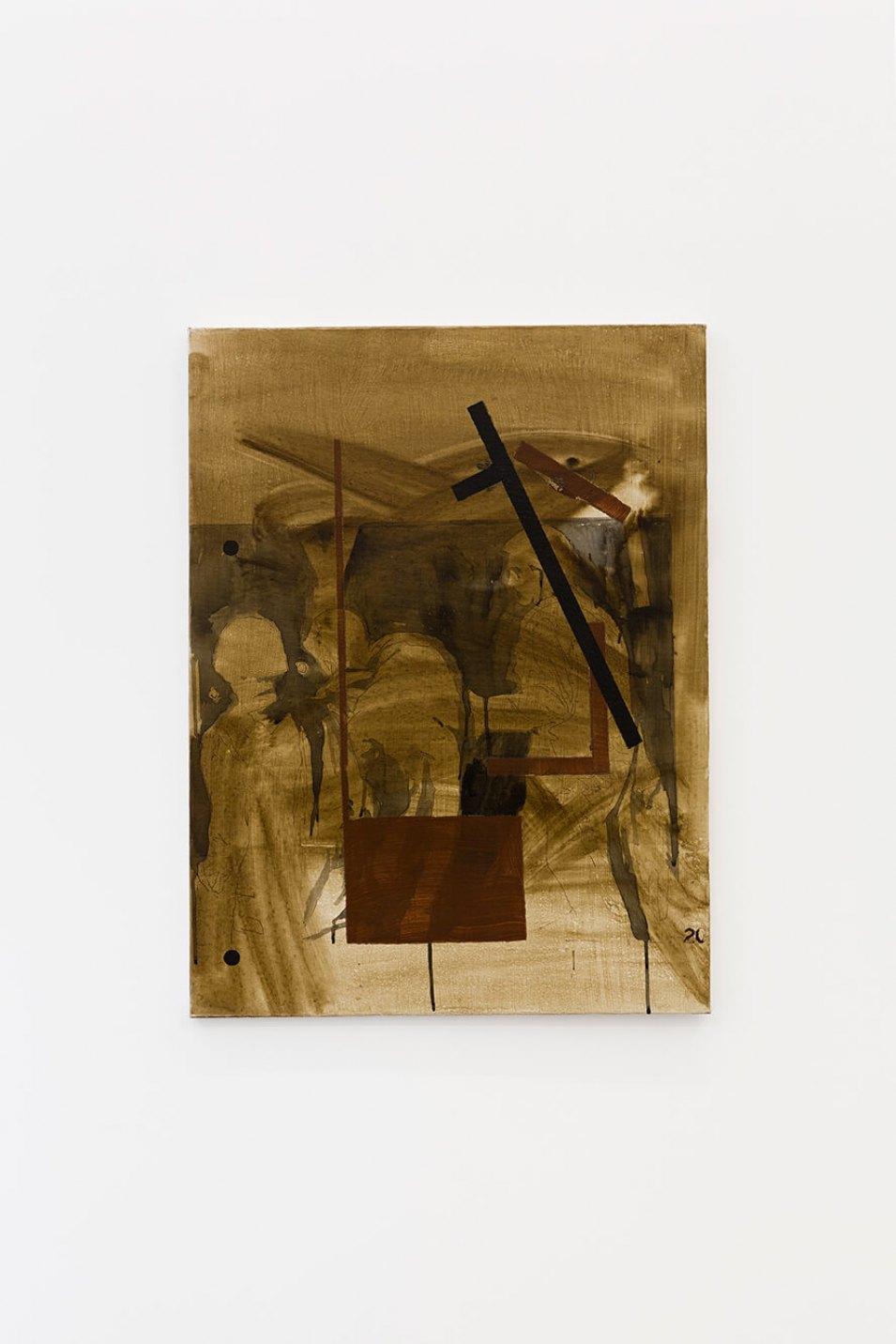 Deyson Gilbert,<em>Manifestação</em>, 2014,oil and varnish on canvas, 80 ×60 × 2 cm - Mendes Wood DM