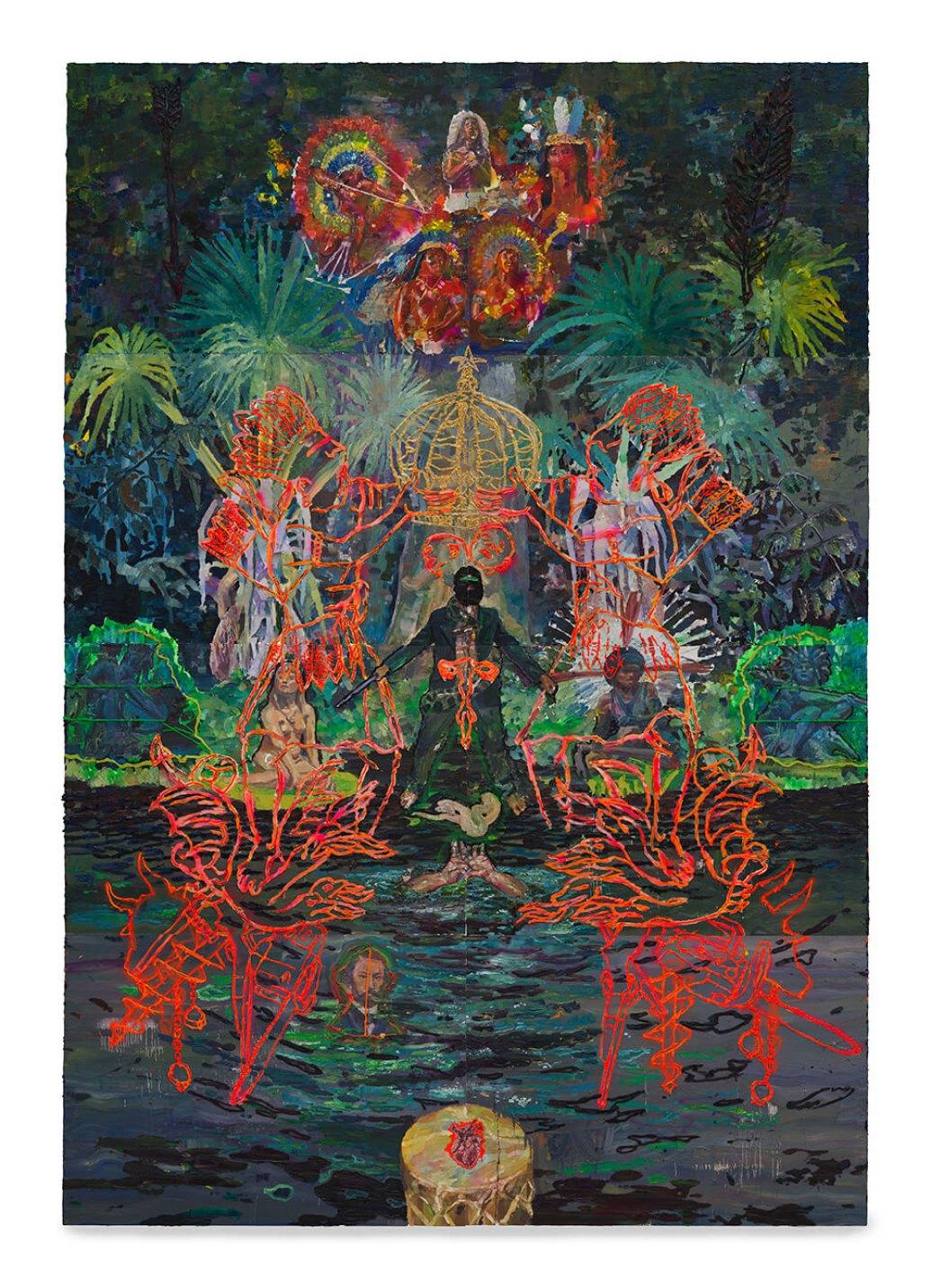 Thiago Martins de Melo,<em>The Coronation of the Mixed-Race Rebis,</em> 2013, oil on canvas, 520 × 360 cm - Mendes Wood DM