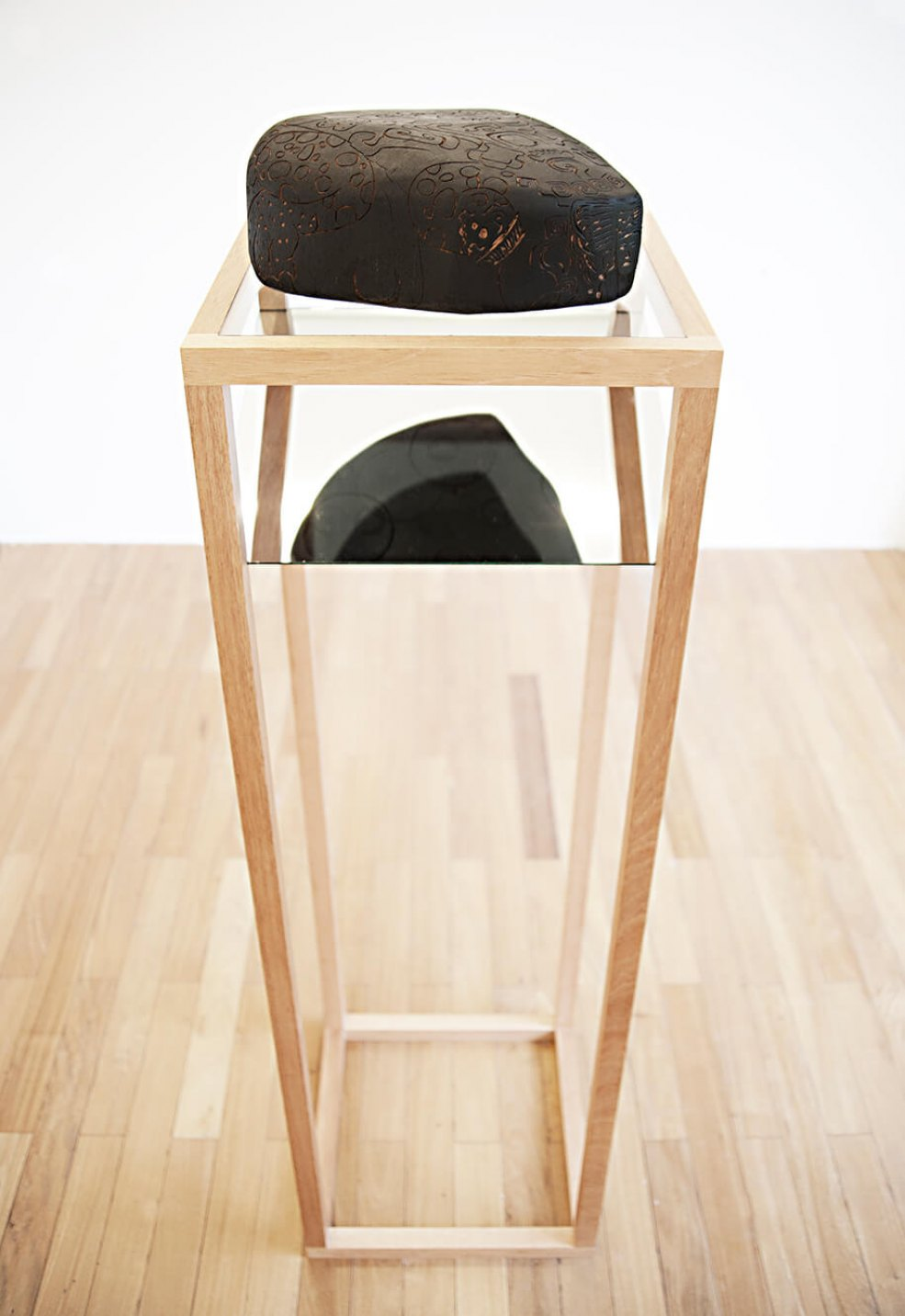 Mariana Castillo Deball,<em> Zoomorph G, </em>2013, wooden carved sculpture mounted on base with mirror, 155 × 40 × 40 cm - Mendes Wood DM
