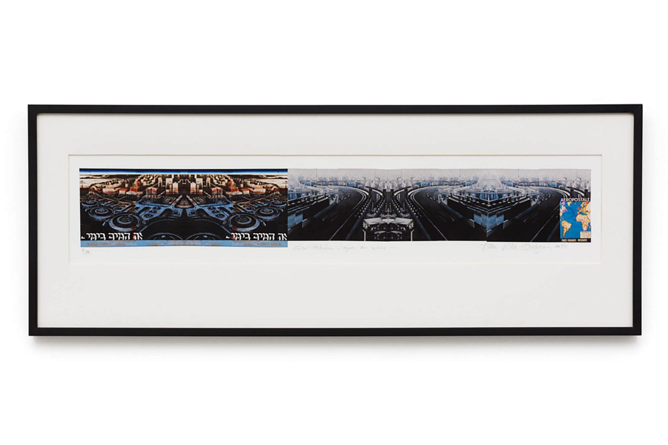 Anna Bella Geiger,&nbsp;<em>Zona Portuária com águas dos mares,</em>&nbsp;2010, photogravure with video, 40 ×&nbsp;110 cm - Mendes Wood DM