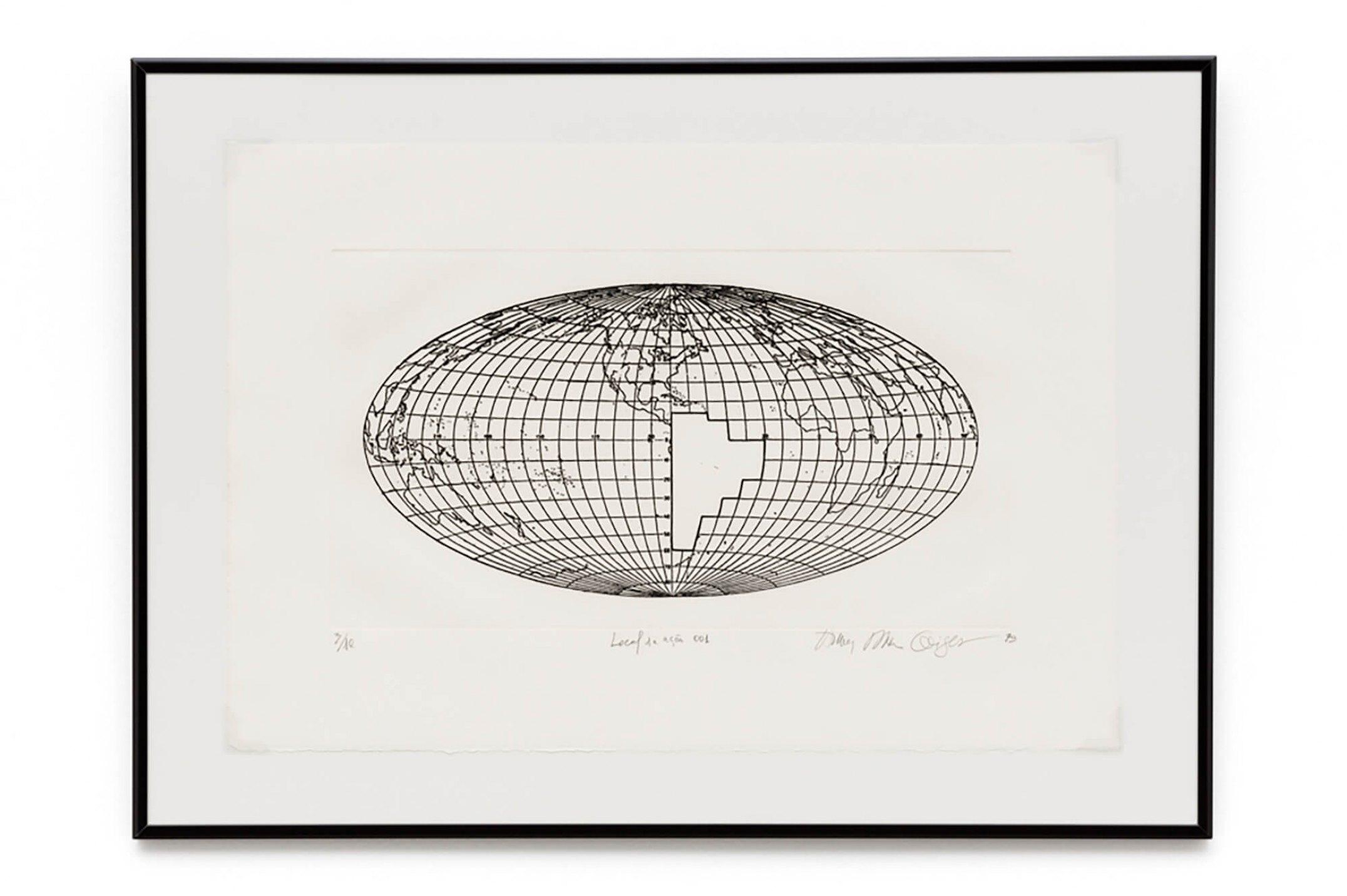 Anna Bella Geiger,<em>Local de Ação 001</em>, 1979, photogravure on metal, 47×68 cm - Mendes Wood DM