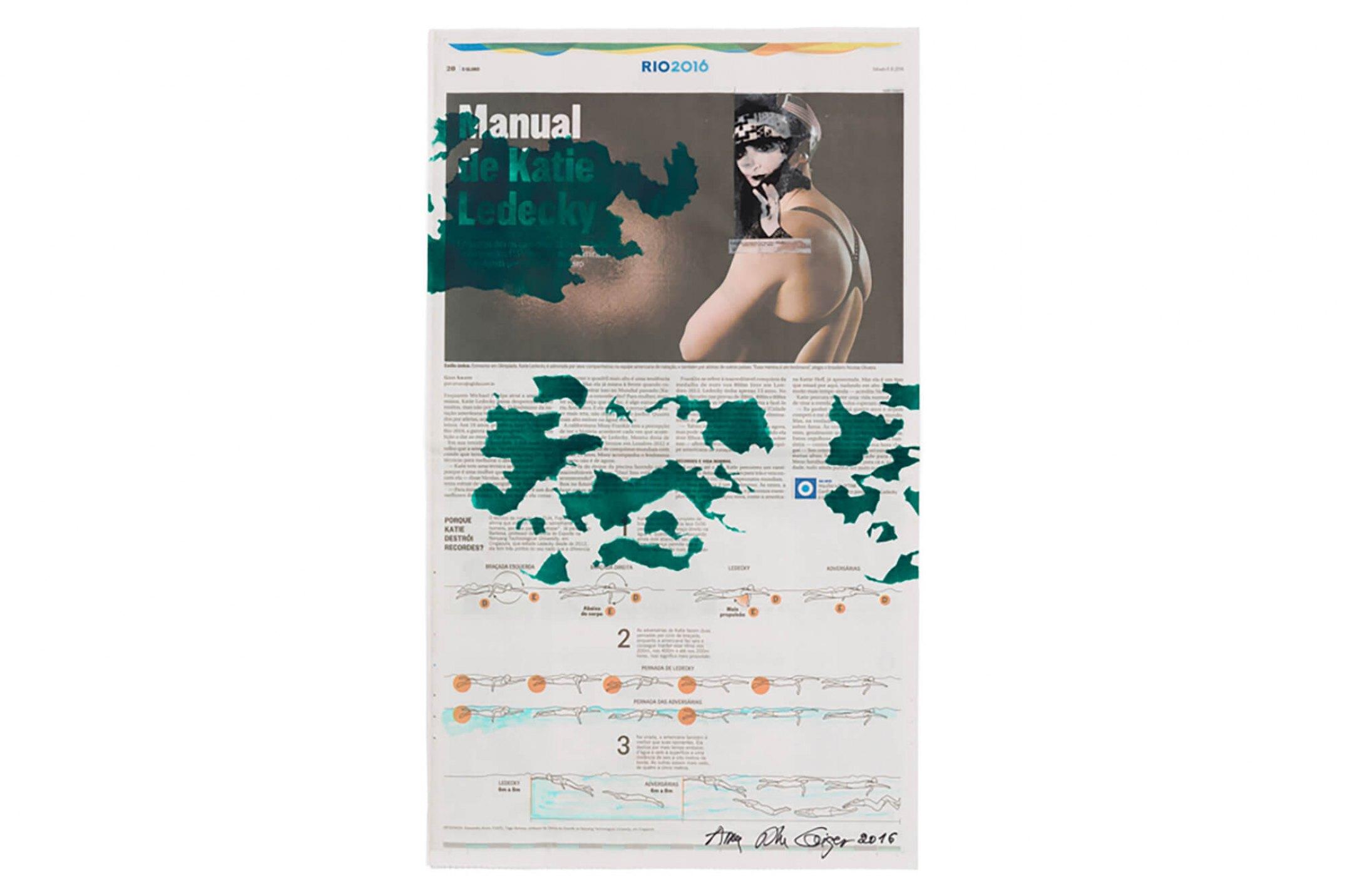 Anna Bella Geiger,<em>Rrose Sélavy, mesmo,</em>1997 – 2016, newspaper pages and screen printing, 54×32 cm - Mendes Wood DM