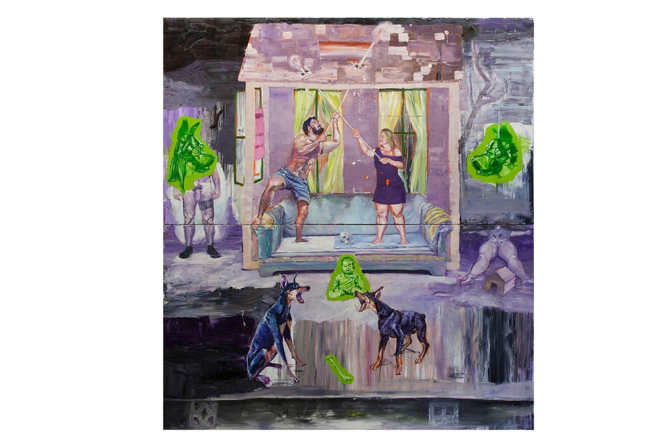 Thiago Martins de Melo,<em>O Teto</em>, 2010, oil on canvas, 200 × 180 cm - Mendes Wood DM
