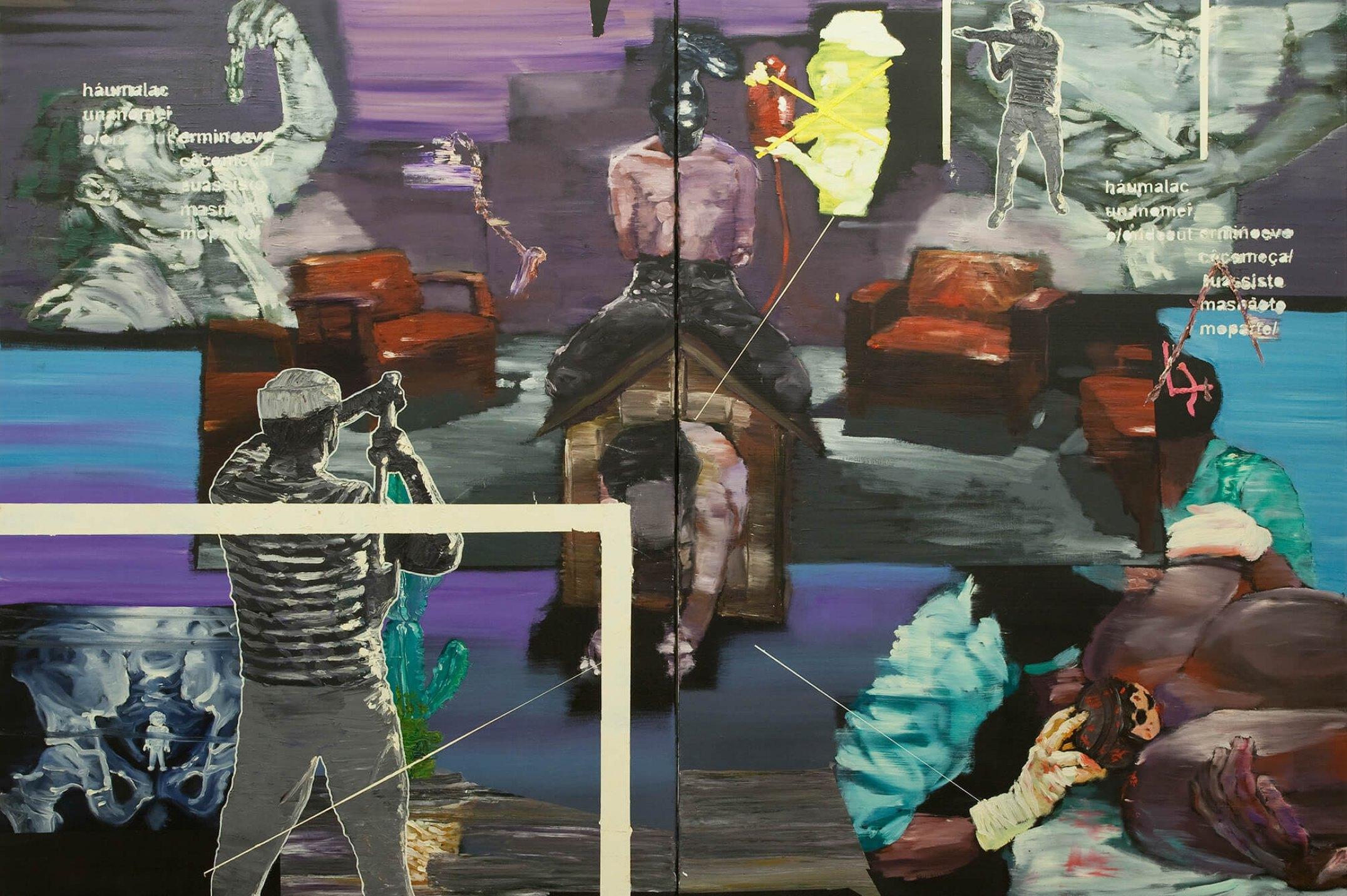 Thiago Martins de Melo,<em>Descendência entre Traves</em>,2009, oil on canvas, 140 × 200 cm - Mendes Wood DM