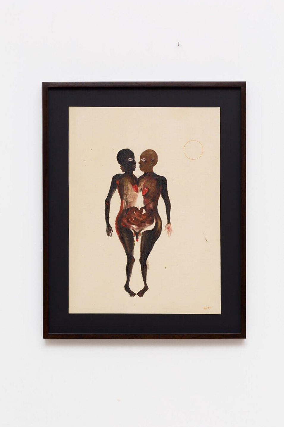 Antônio Obá, <em>Contenda</em>, 2016,oil on canvas, 62× 45,5 cm - Mendes Wood DM