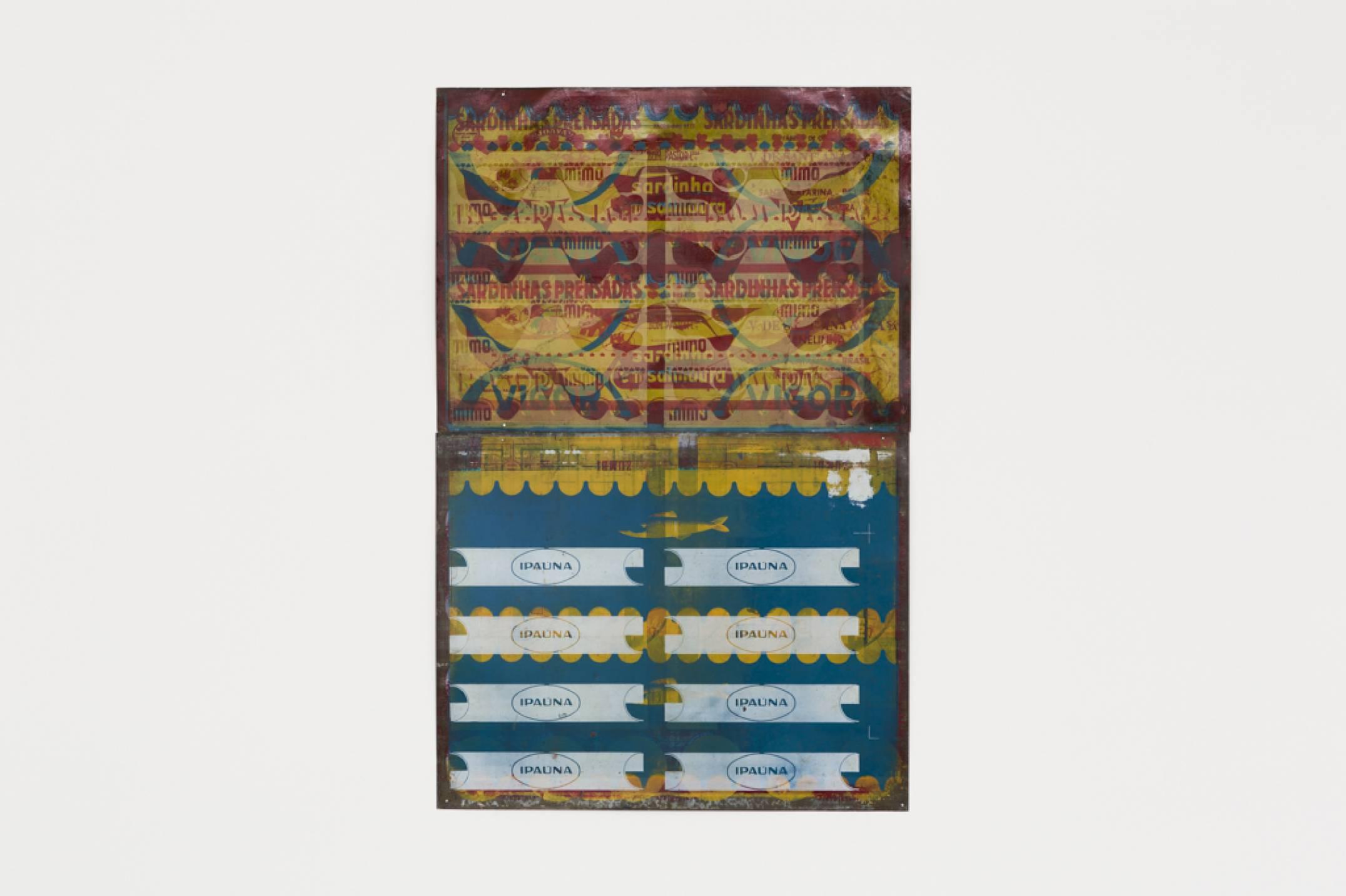Lotus Lobo, <em>Estamparia Litográfica, sobre folha de flandres,</em> 1970-2016,&nbsp;print on tinplate, 102 × 70 cm - Mendes Wood DM