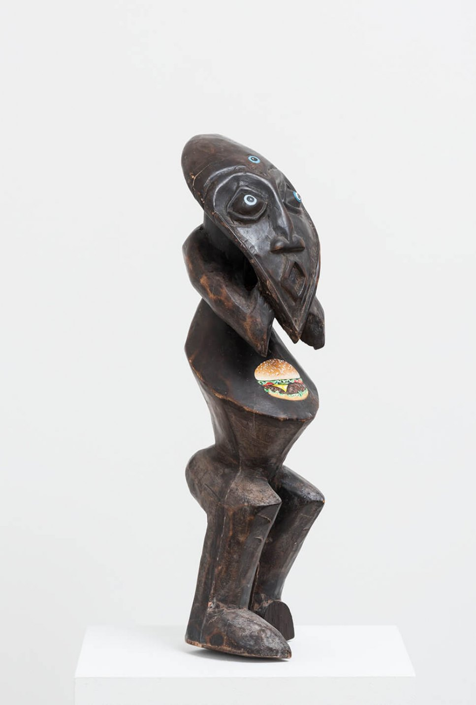 Djordje Ozbolt<em>, The Third Eye</em>, 2016, african figure, acrylic, 50 × 20 × 20 cm - Mendes Wood DM