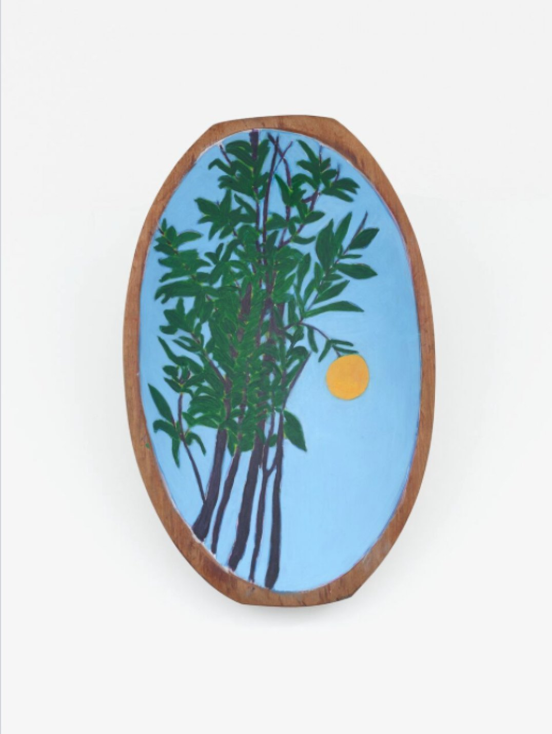Patricia Leite,&nbsp;<em>Laranjeira,</em> 2017, oil on wood, 33 × 21 cm - Mendes Wood DM