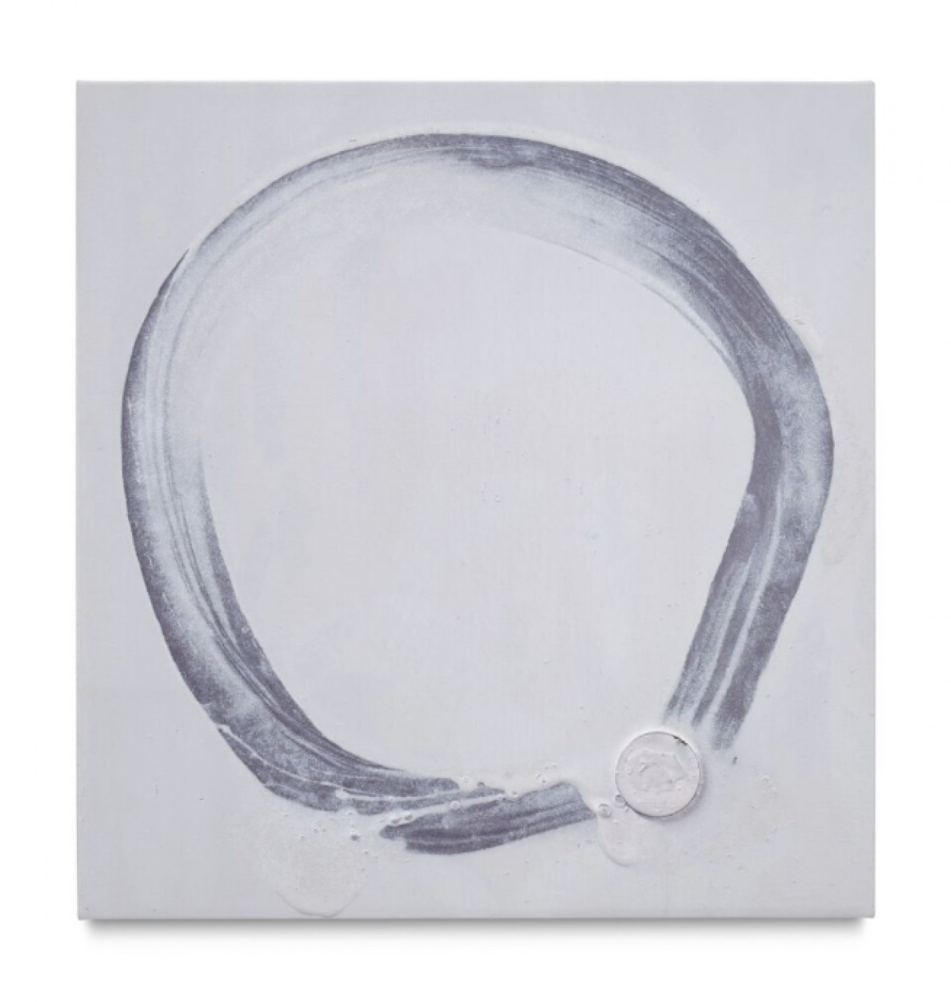 Paul Sietsema, <em>Circle painting</em>, 2016, enamel on linen, 77 × 73 cm - Mendes Wood DM