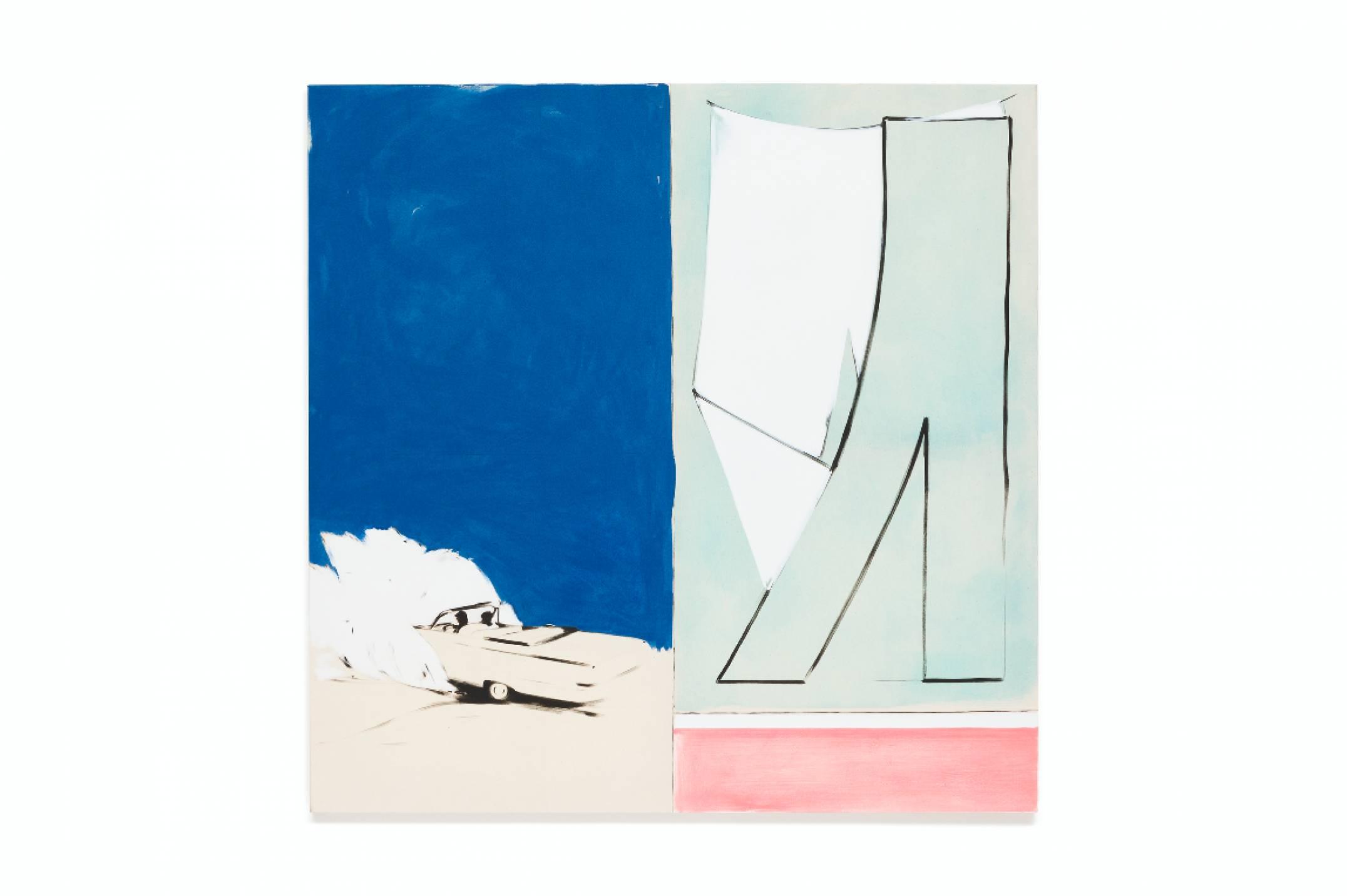 Julie Beaufils, <em>Freedom 30</em>, 2017, acrylic and ink on canvas, 130 × 130 cm<br> - Mendes Wood DM