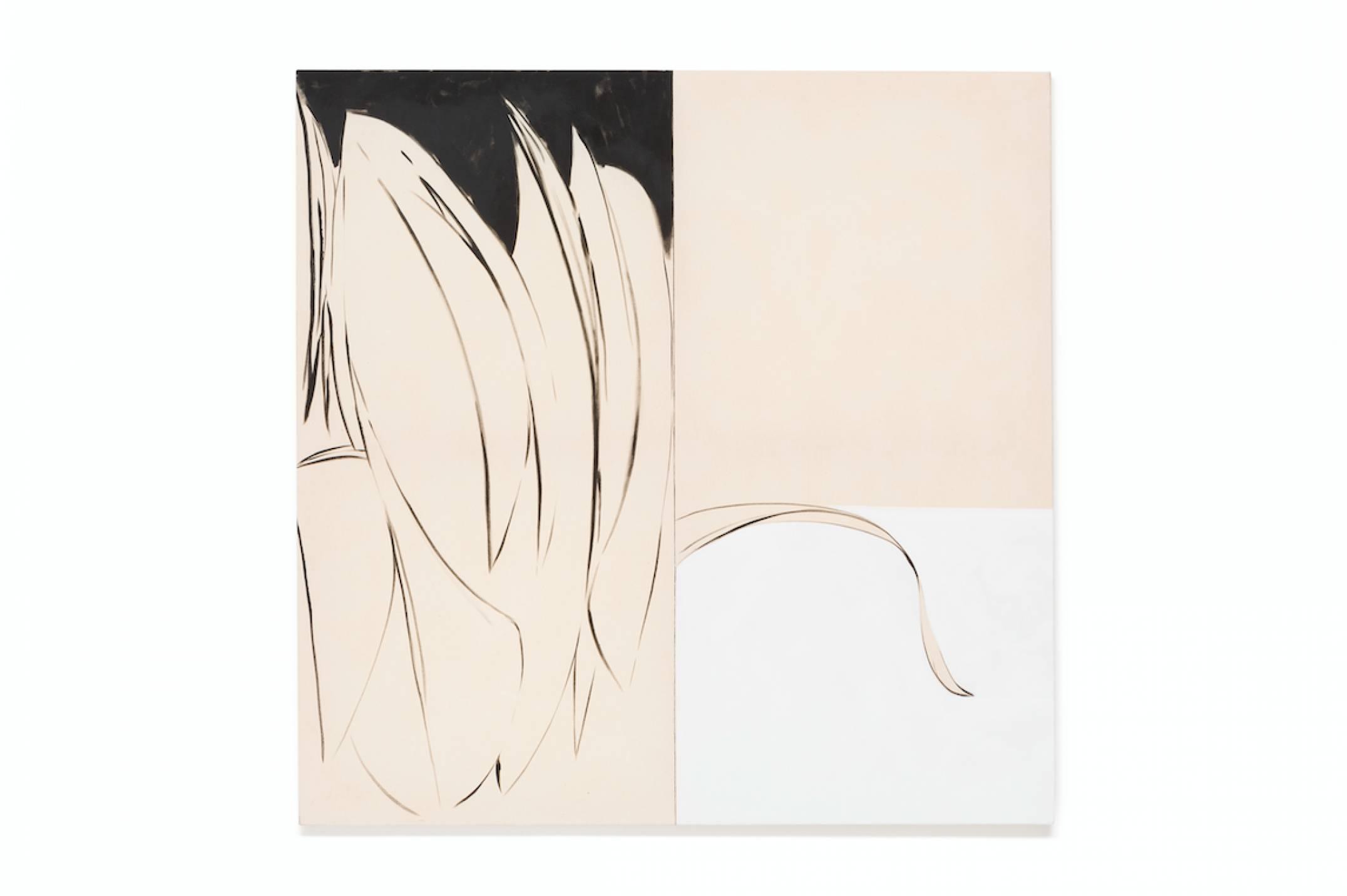 Julie Beaufils, <em>The next world,</em> 2017, acrylic and ink on canvas, 130 × 130 cm<br> - Mendes Wood DM