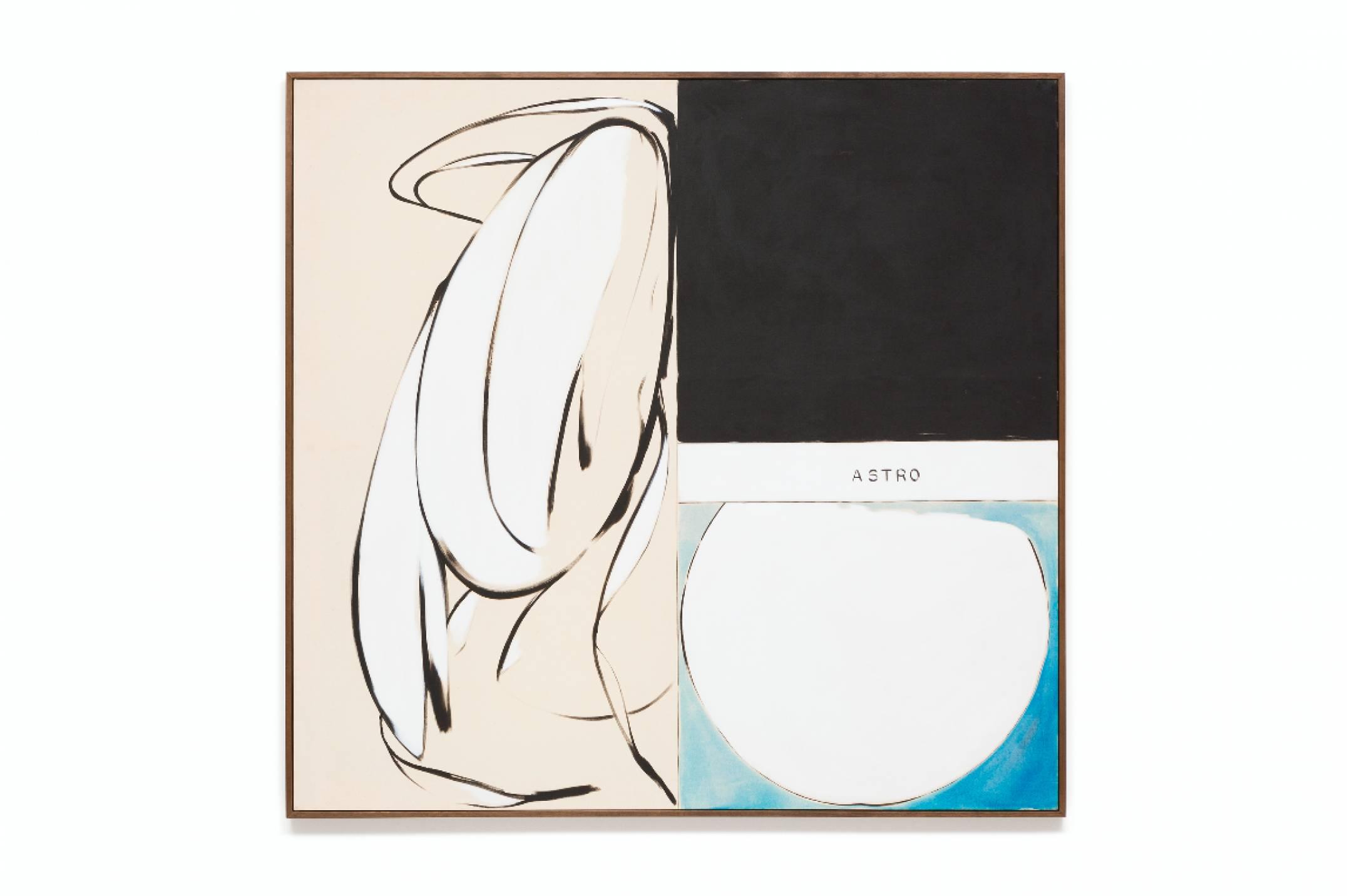 Julie Beaufils, <em>Astrology card,</em> 2017, acrylic and ink on canvas, 130 × 130 cm - Mendes Wood DM