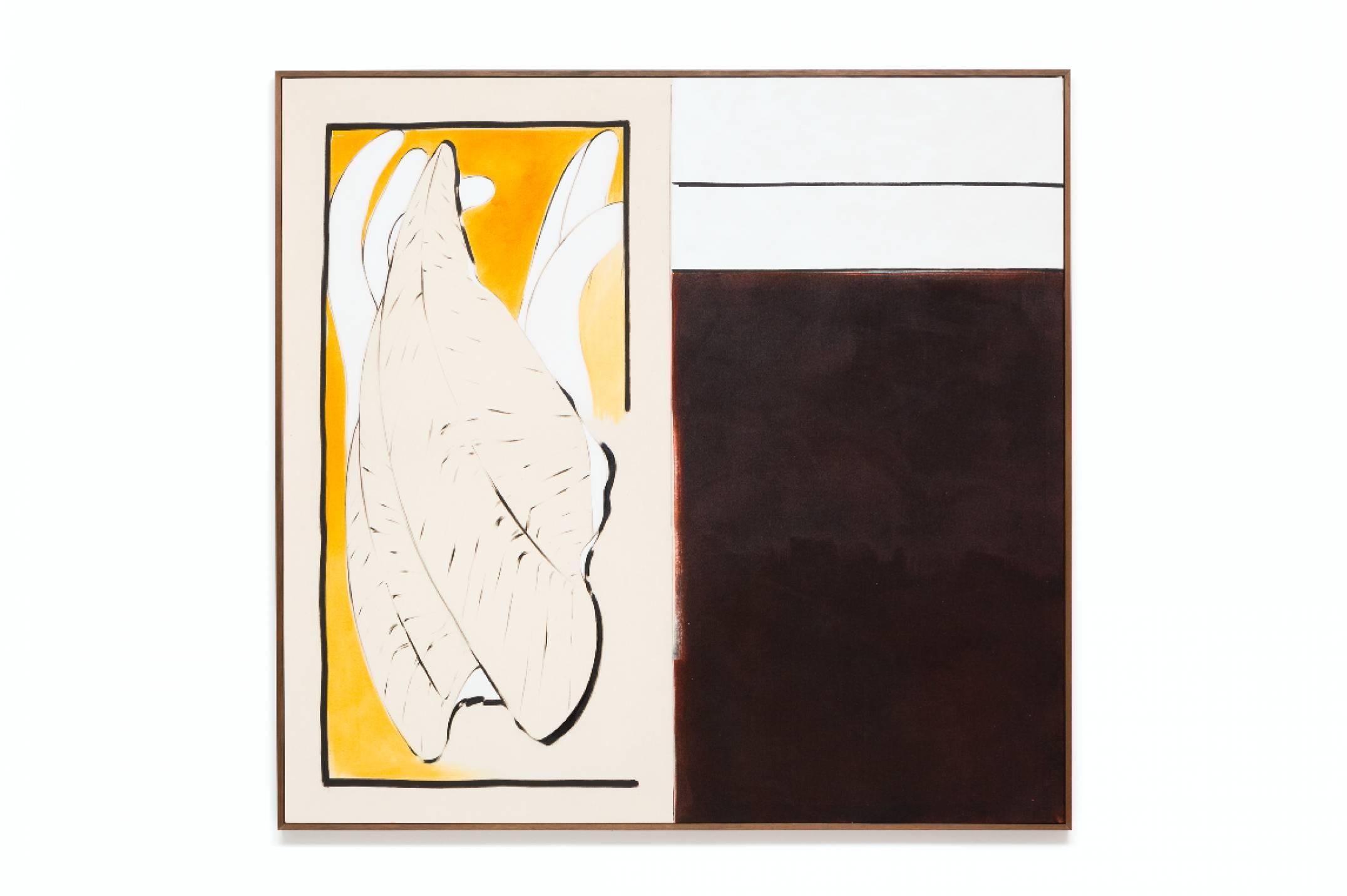 Julie Beaufils, <em>Wild fish</em>, 2017, acrylic and ink on canvas, 130 × 130 cm - Mendes Wood DM