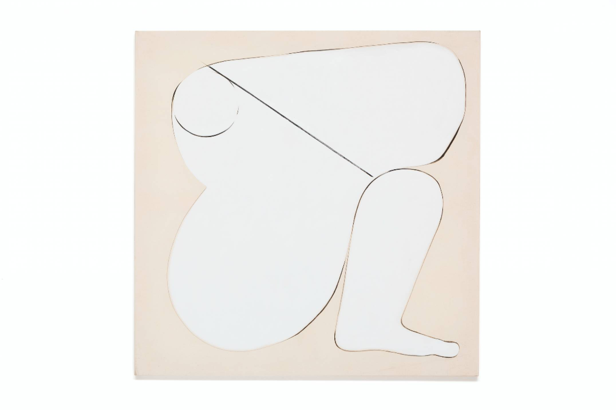 Julie Beaufils, <em>Modern amazone 1</em>, 2017, acrylic and ink on canvas, 130 × 130 cm - Mendes Wood DM