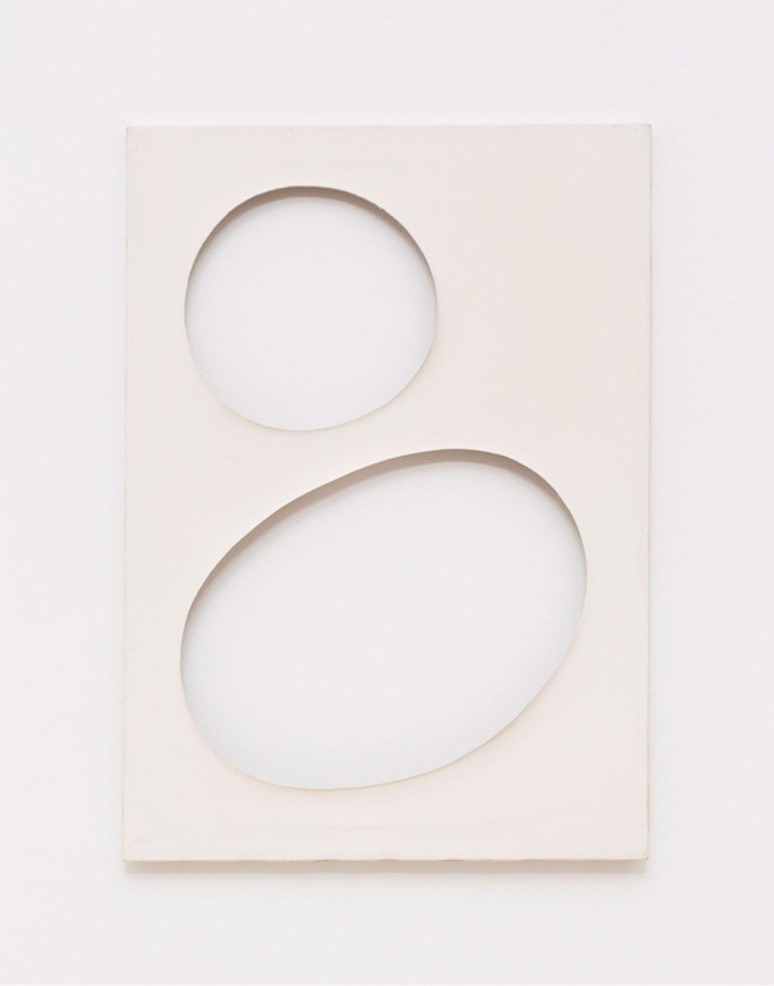 Dadamaino,<em>untitled, fromVolumiseries,</em>1959,water-based ink on canvas, 70 ×50 cm - Mendes Wood DM