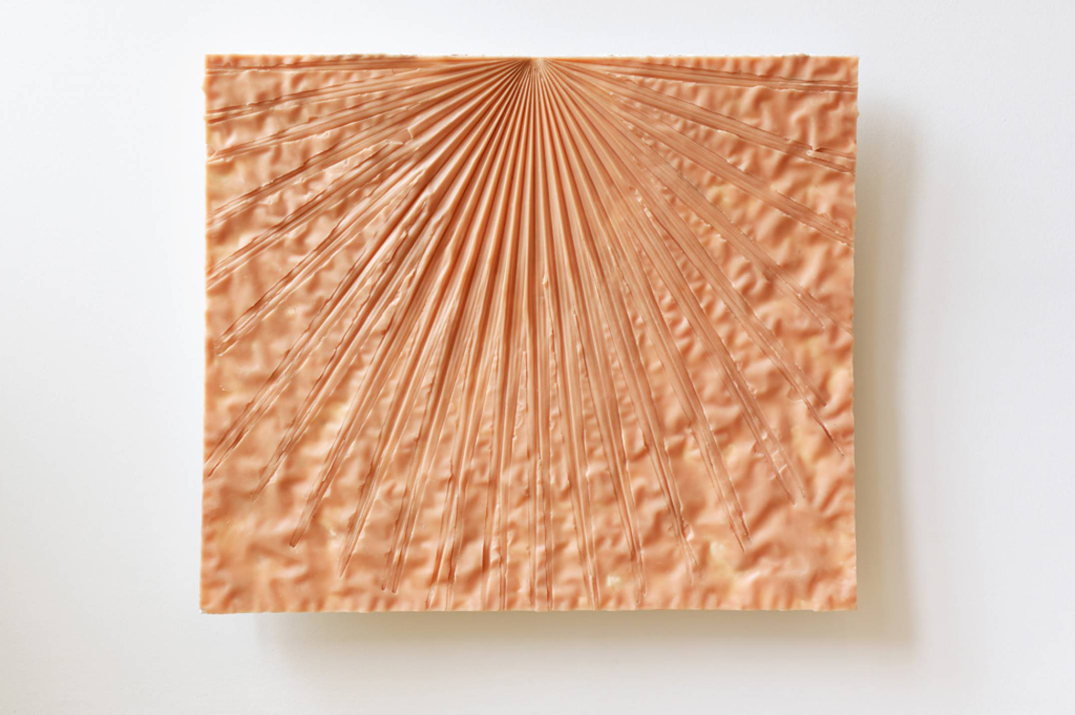 Giulio Delvè,<em> No cast any shadow at highnoon on a day about the summer solstice</em>, 2017, carnauba wax, beeswax, plaster, 52 × 61 × 5 cm - Mendes Wood DM